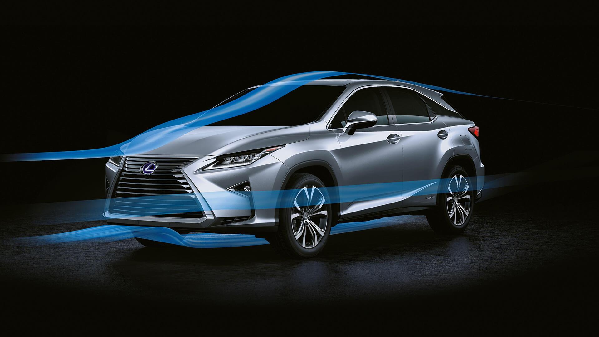 2017 lexus rx 450h features advanced aerodynamics