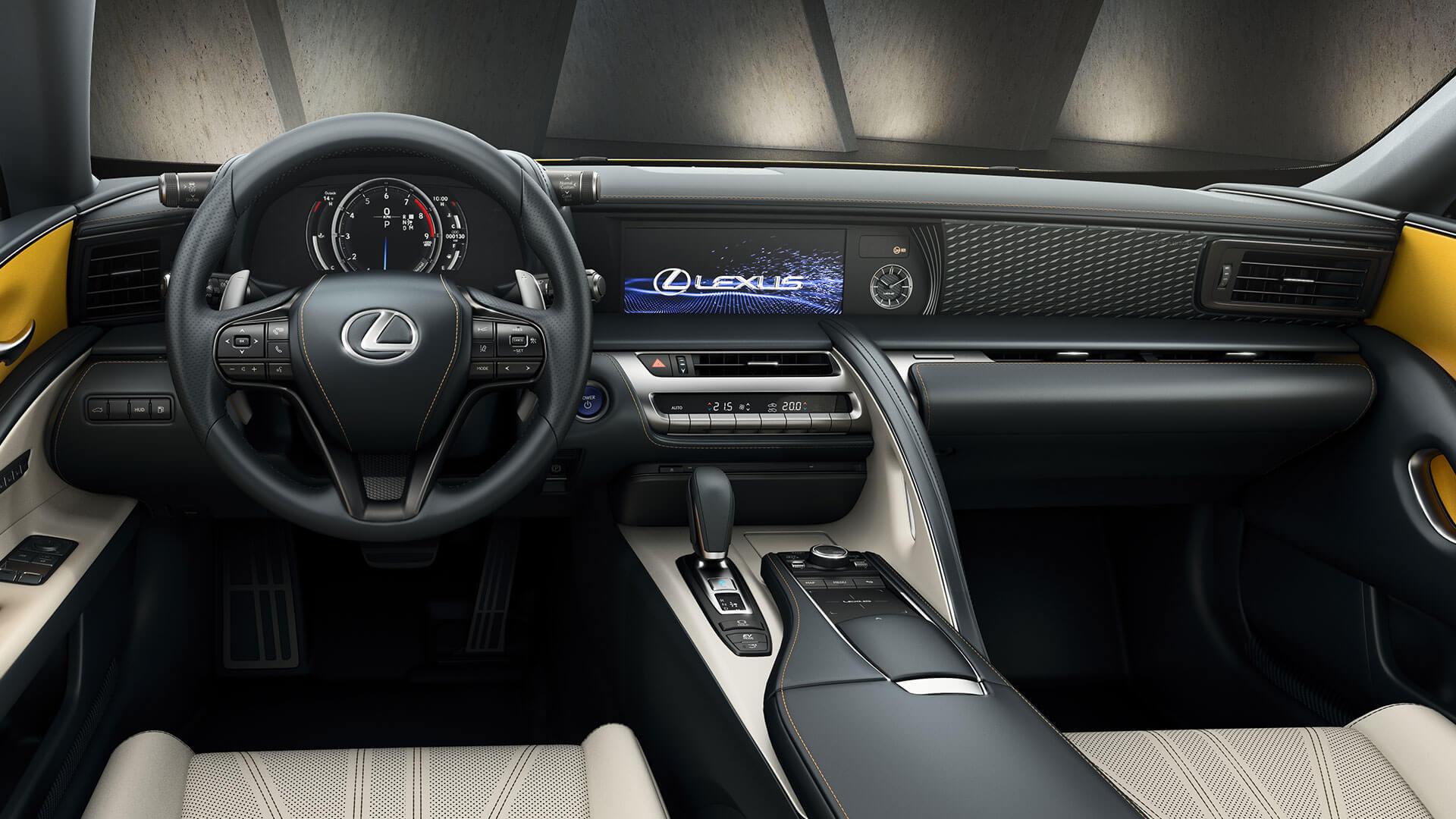 2018 lexus lc yellow gallery interior 002