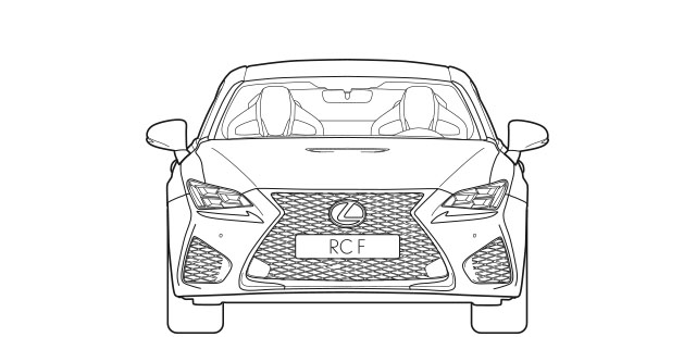 RC F Front Dimensions