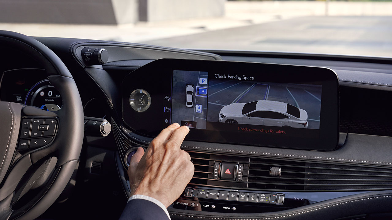 2020 lexus ls experience full automated park system