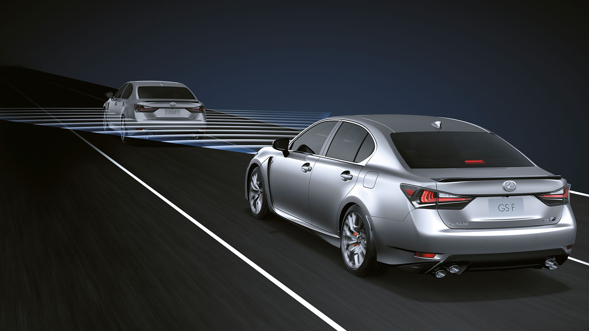 2017 lexus gs f features adaptive cruise control