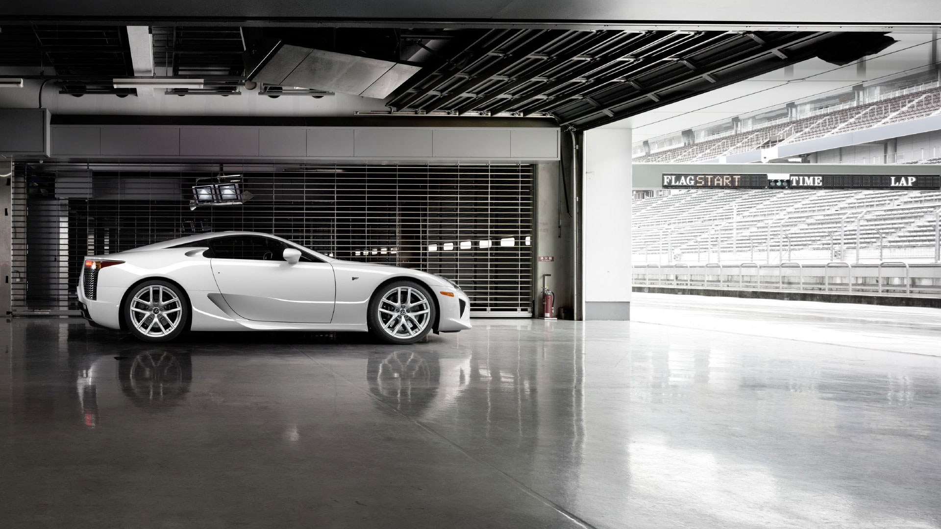 lexus lfa born on track