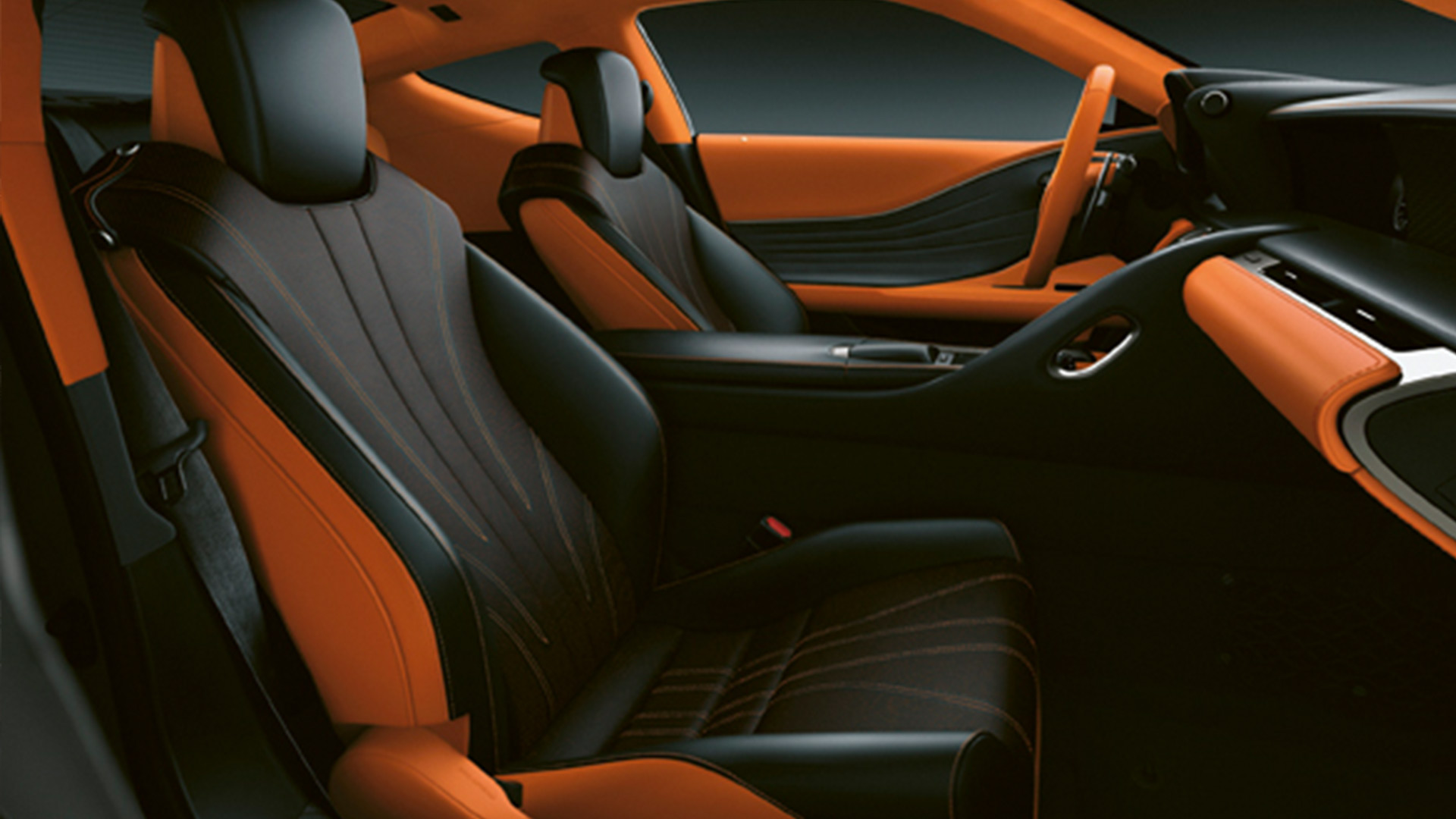 Lexus LC Sunsetorange Interieur