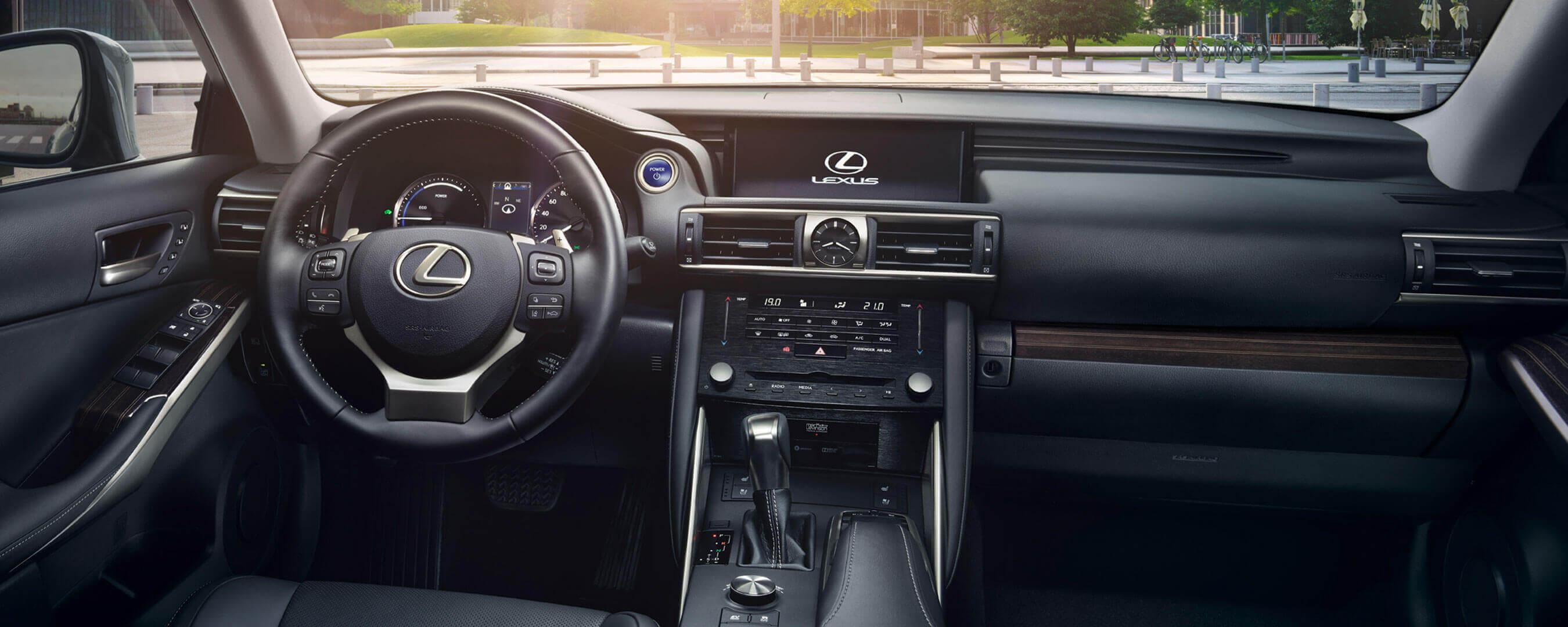 2017 lexus is 300h experience hero interior front