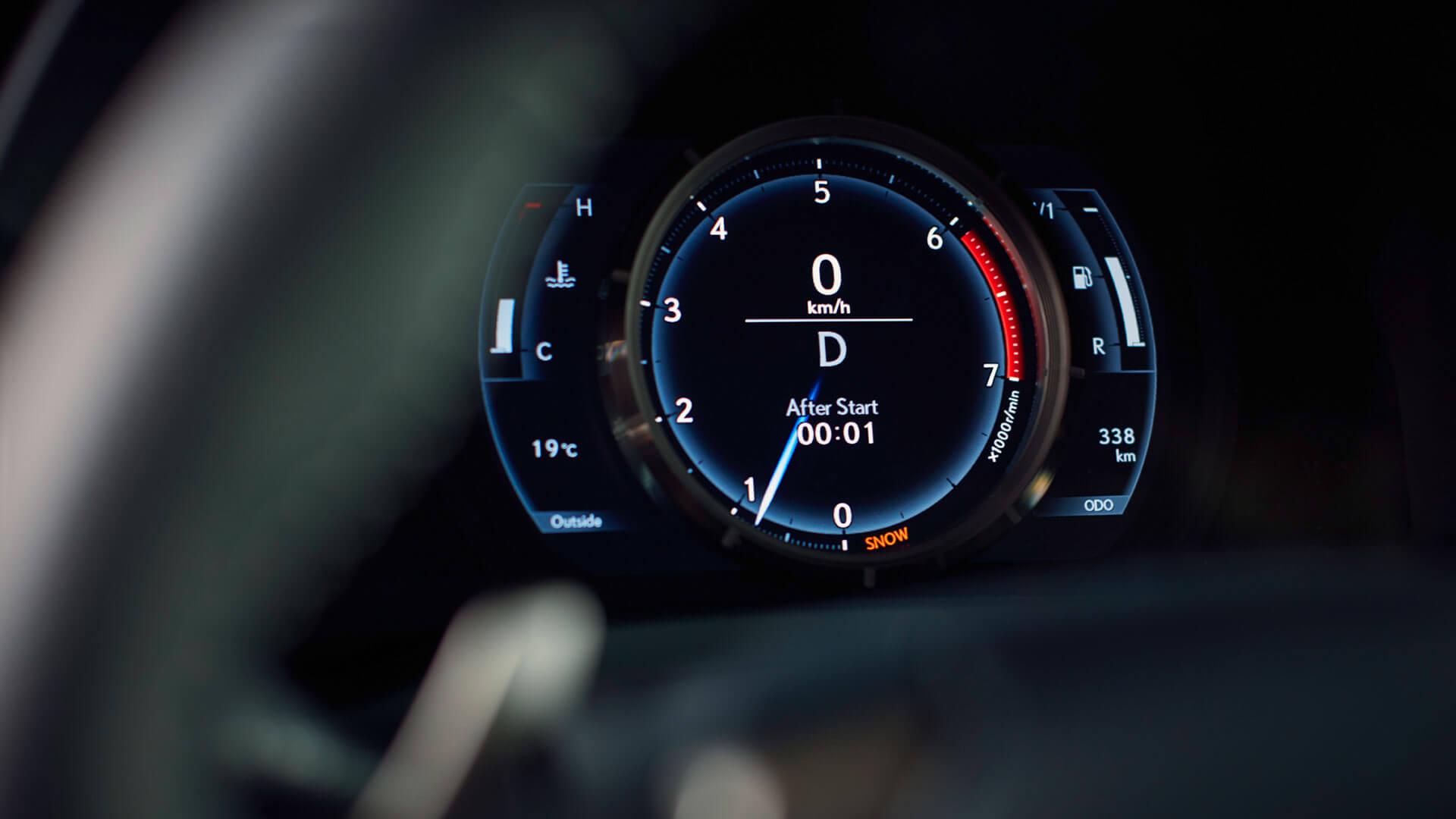Lexus IS interior Tacho