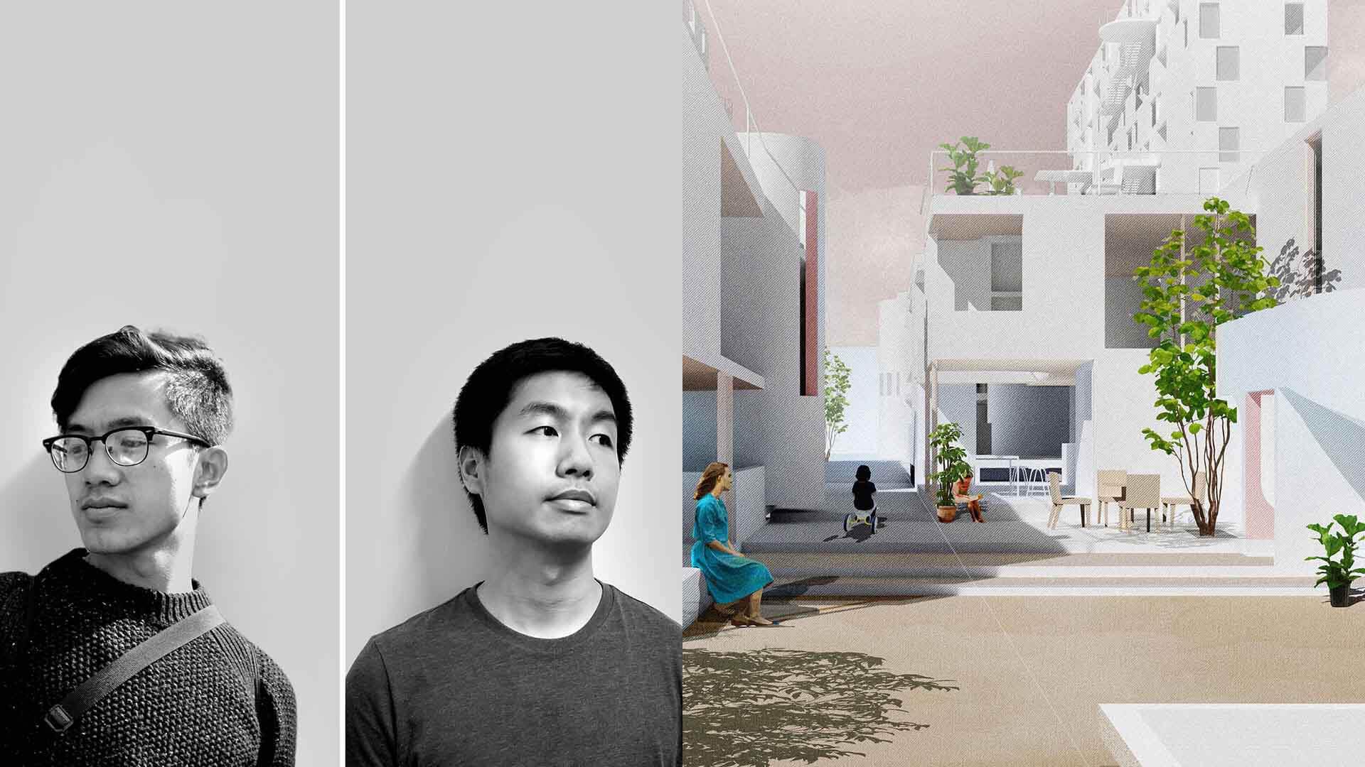 Khoa Vu und Wilson Harkhono USA vor ihrem Wohnsystem