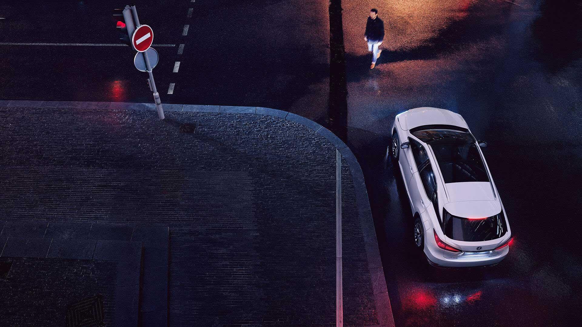 Lexus RX 450h Hybrid 2019 bei Nacht