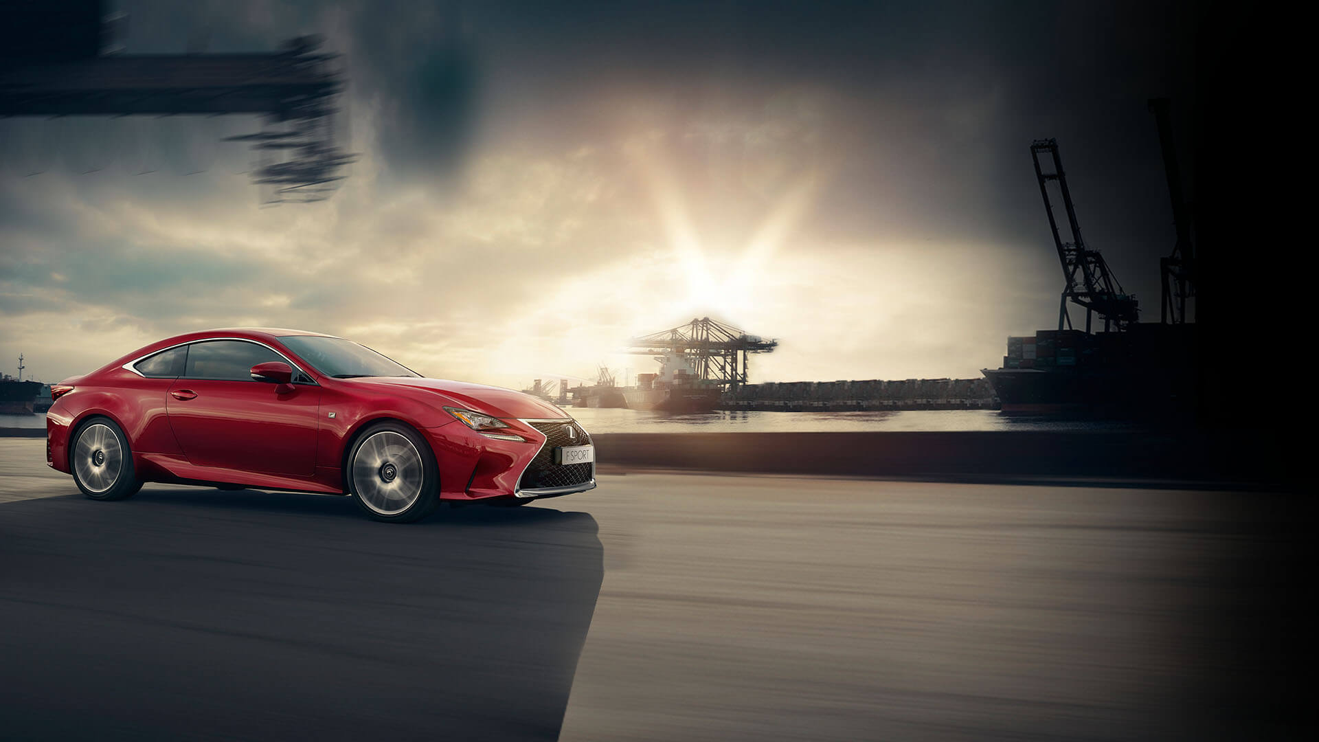 Lexus RC rot Seitenansicht