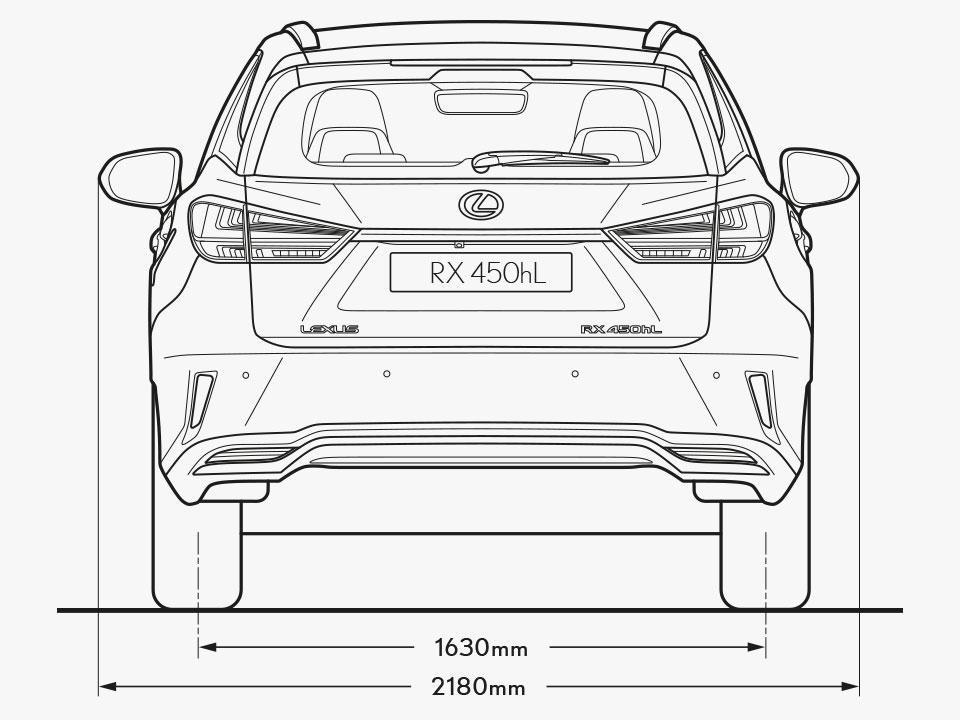 2021 lexus rx l grades and specs dimensions rear