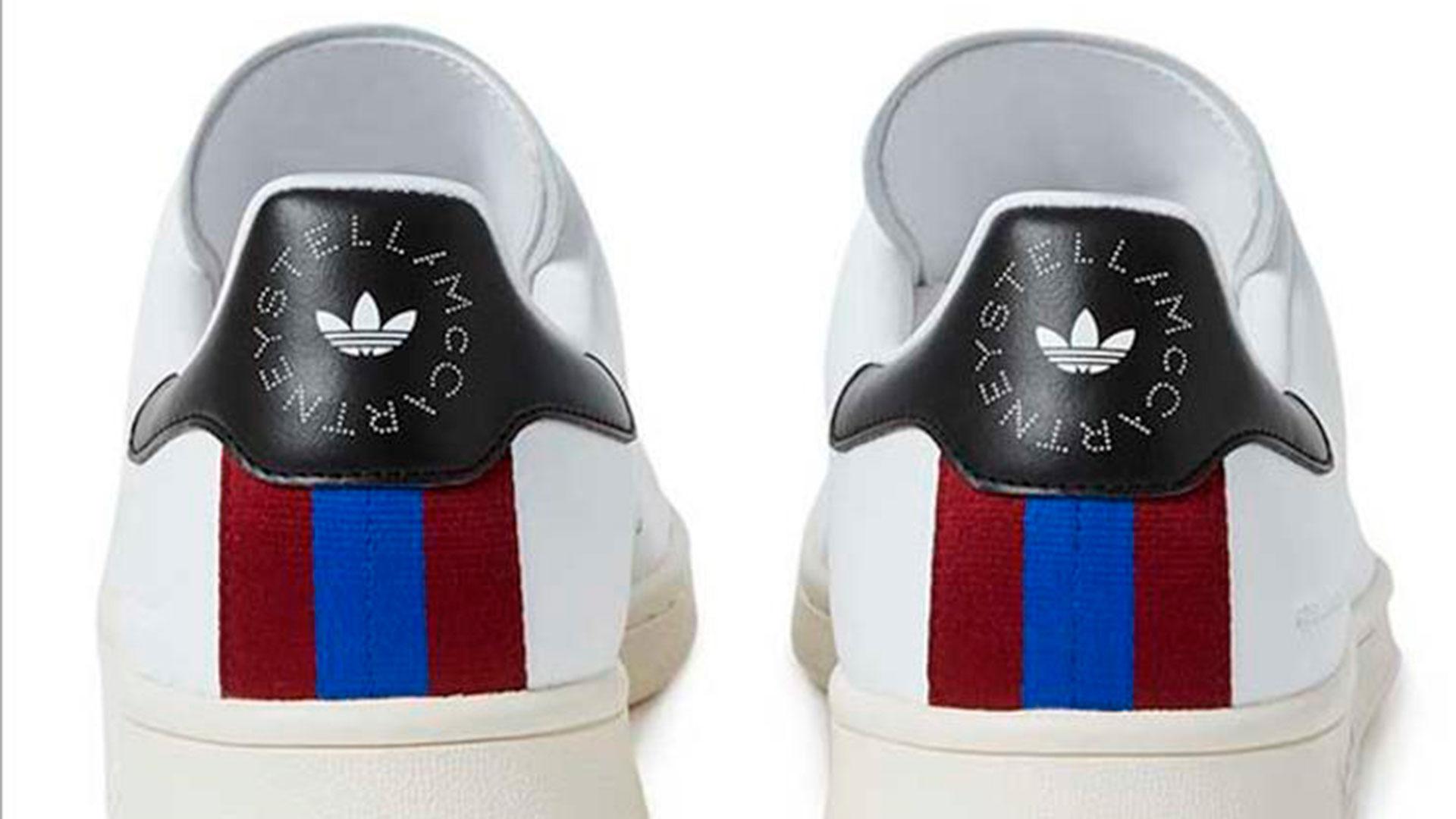 Imagen de las zapatillas blancas Stan Smith diseñadas por Stella McCartney