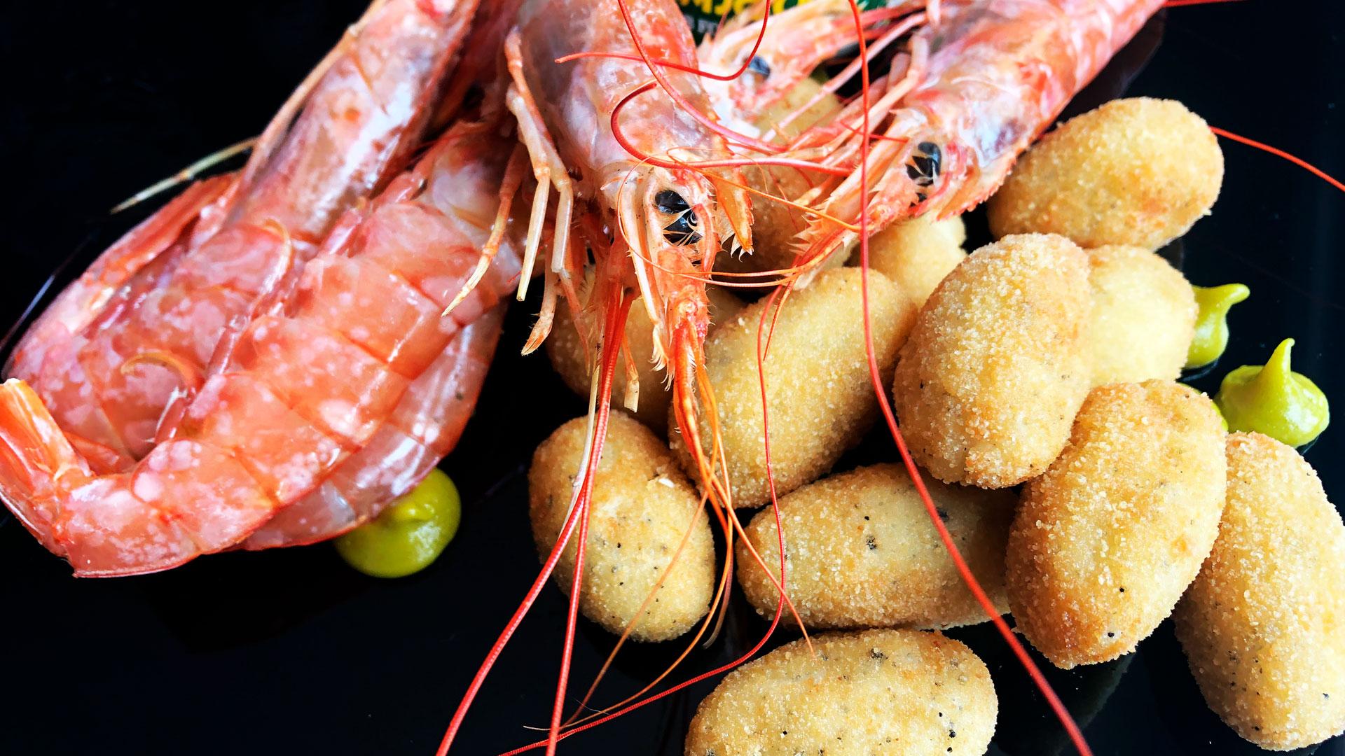 Croquetas de gambones con toque de wasabi hero asset