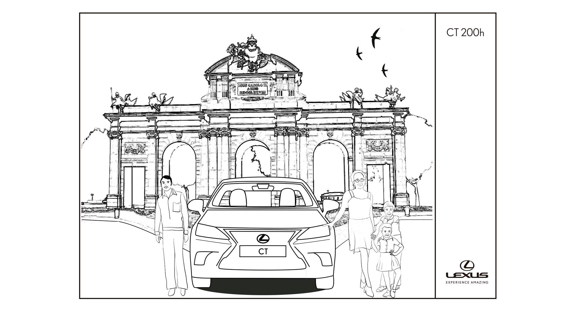 Imagen de un vehículo Lexus híbrido