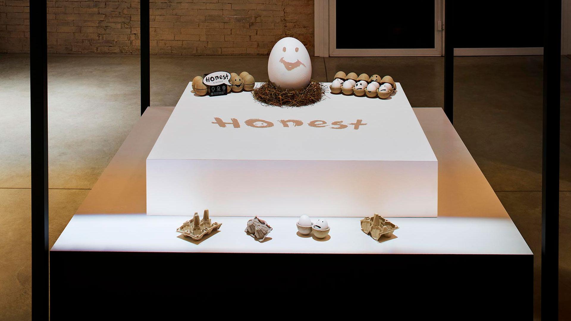 El proyecto Honest Egg expuesto en el Salone di Mobile de Milán