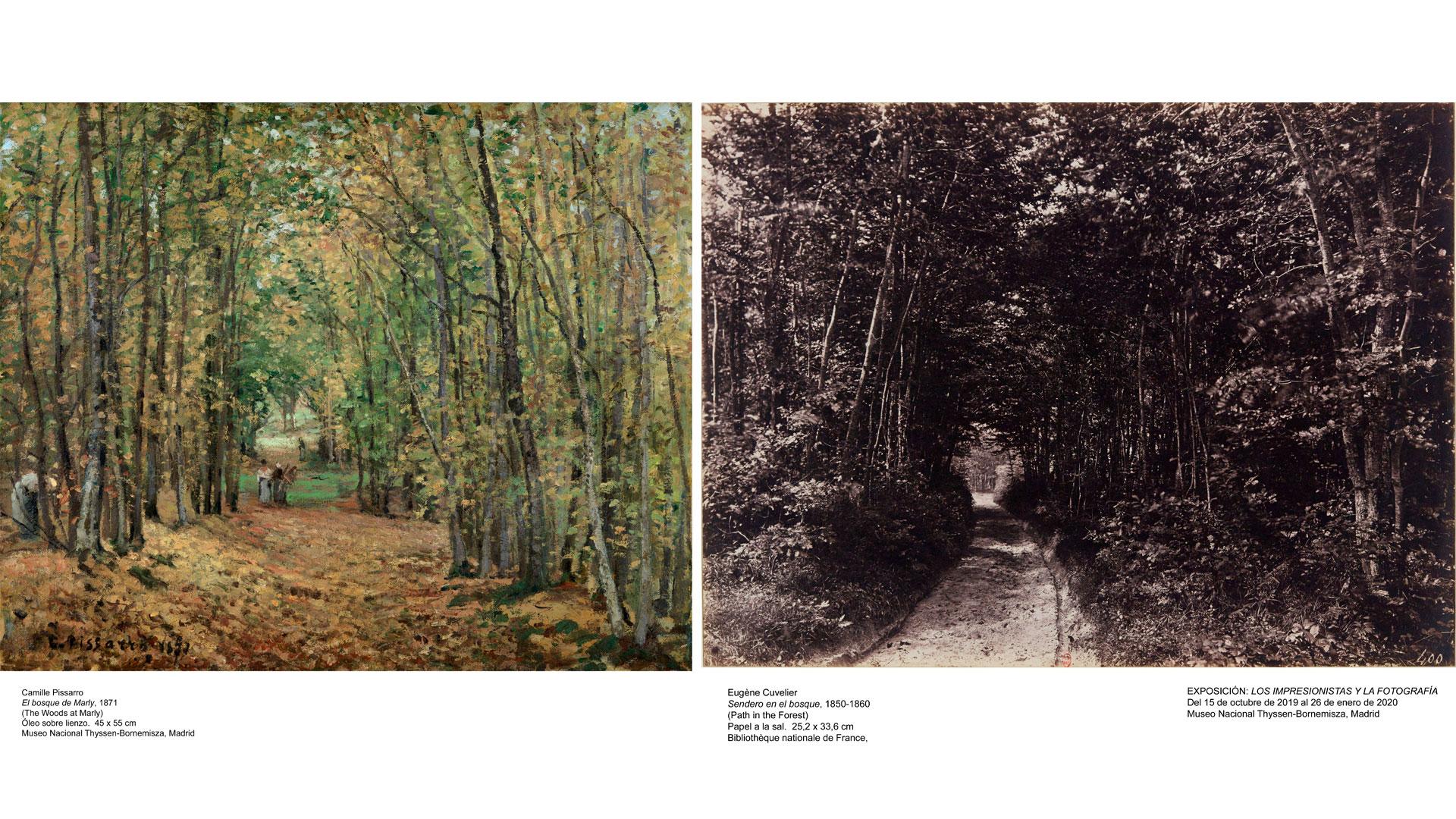 Imagen de la exposición Los impresionistas y la fotografía en el Thyssen