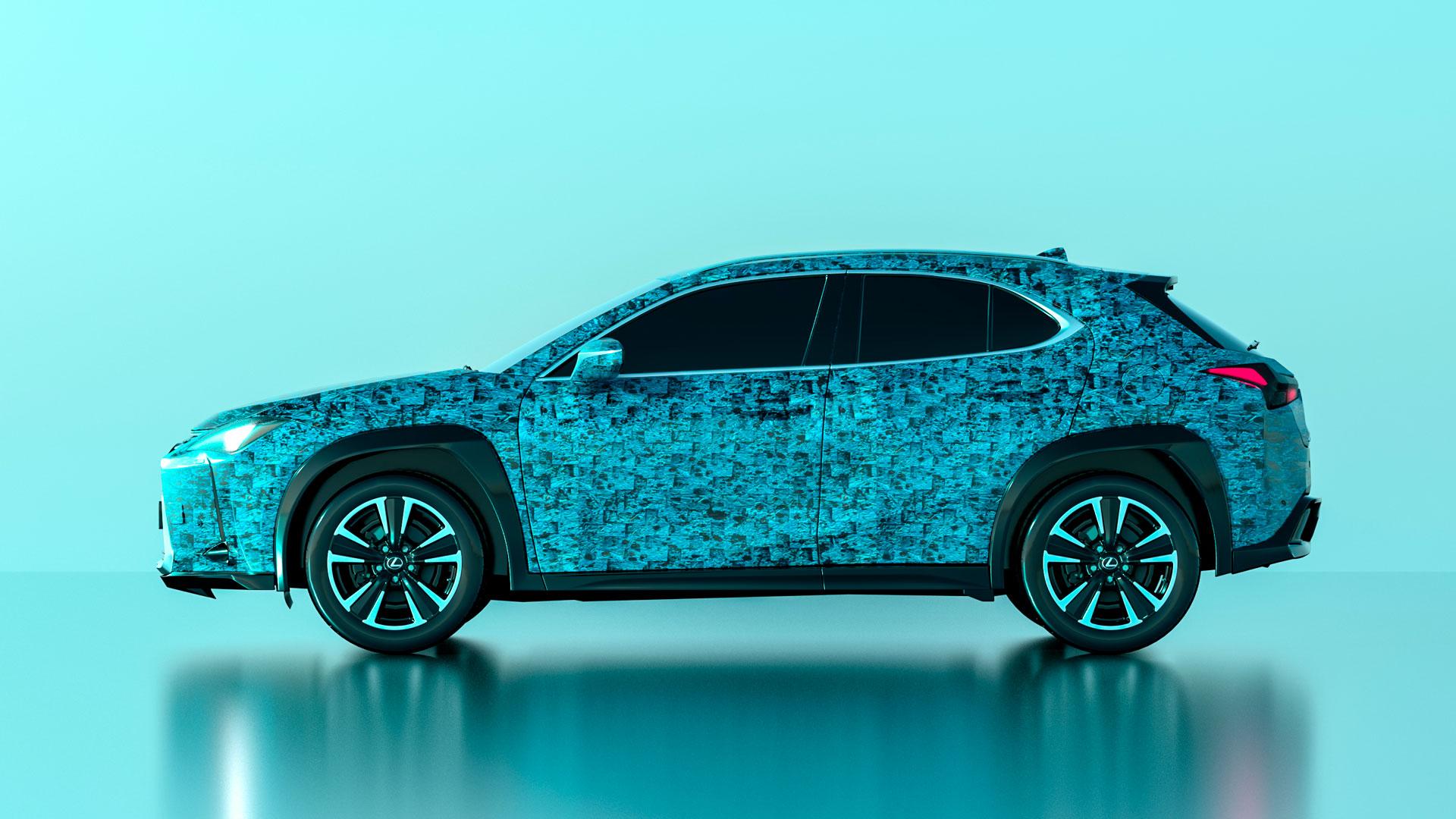 Diseño realizado por Antoñito y Manolín para el concurso Lexus UX Art Car