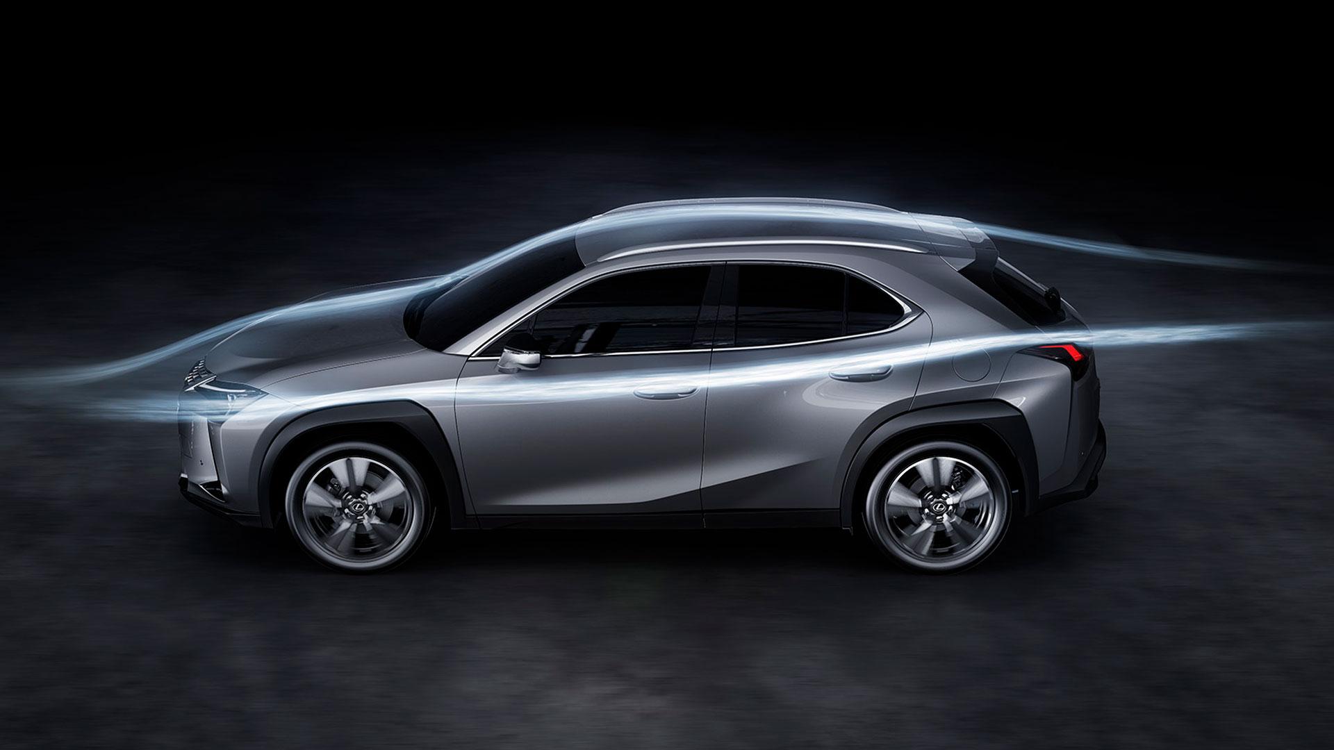 Aerodinámica Lexus UX hero asset