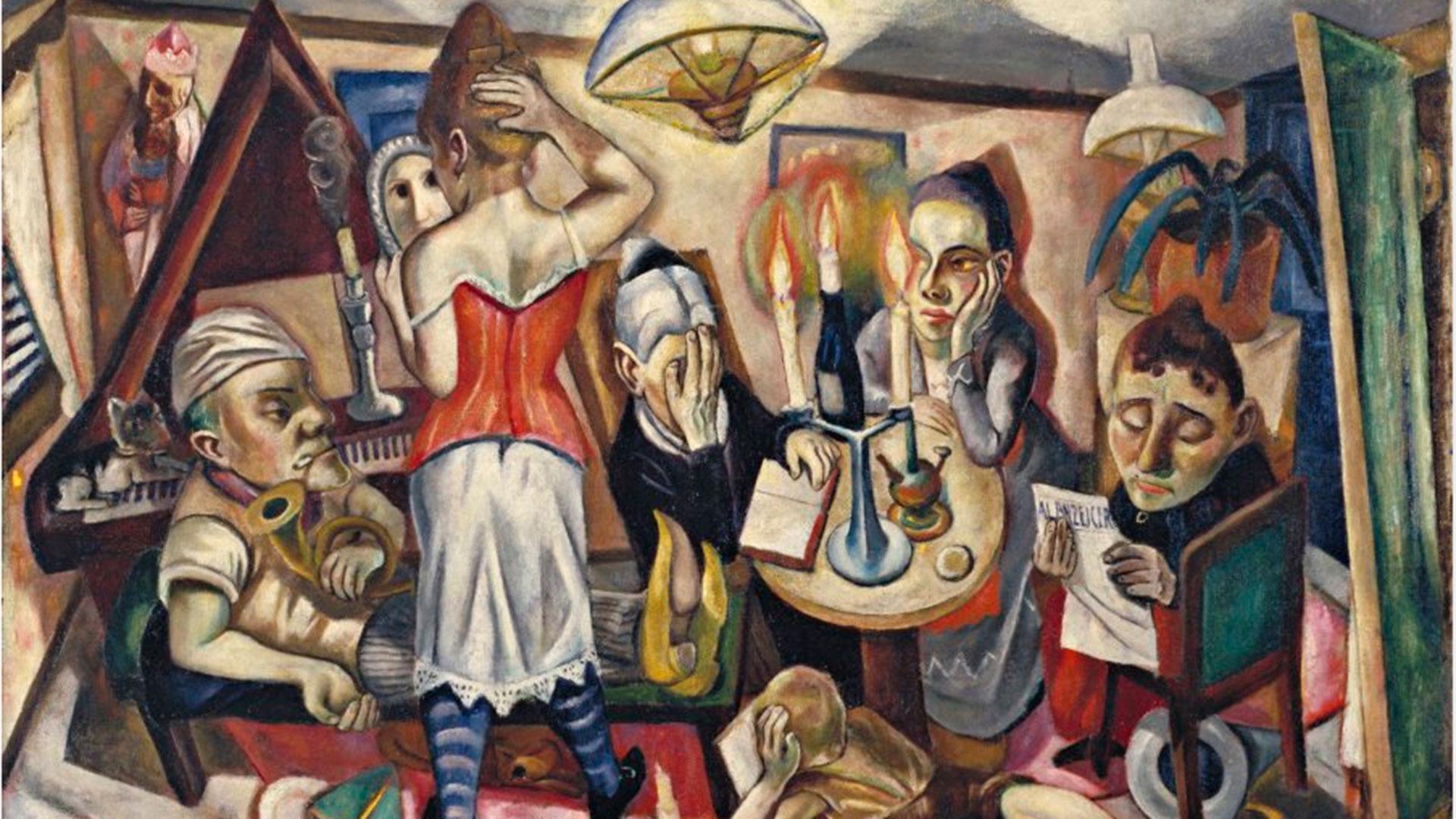 Imagen de la exposición de Max Beckmann en el Museo Nacional Thyssen Bornemisza