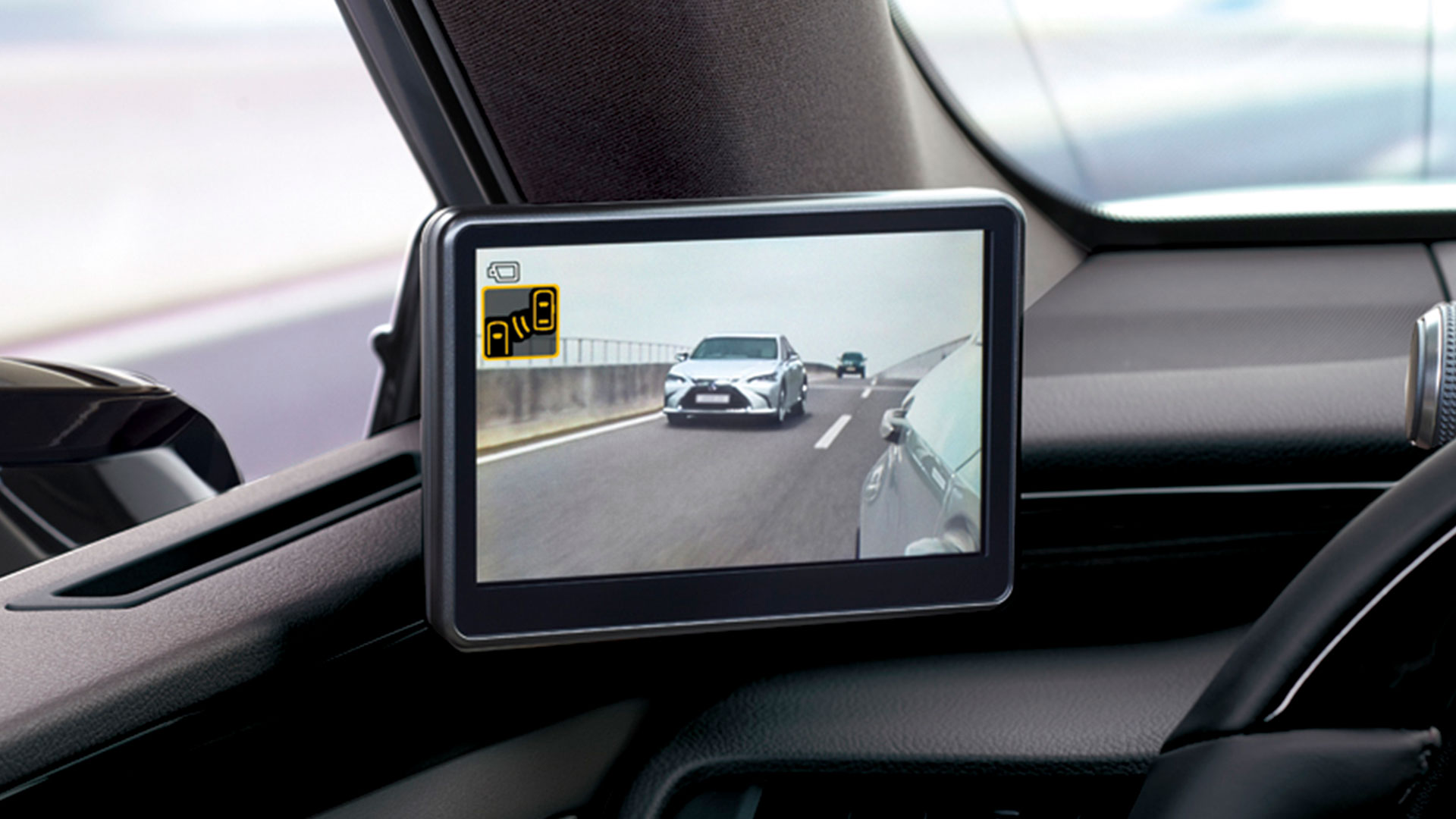 Imagen del retrovisor digital del Lexus ES