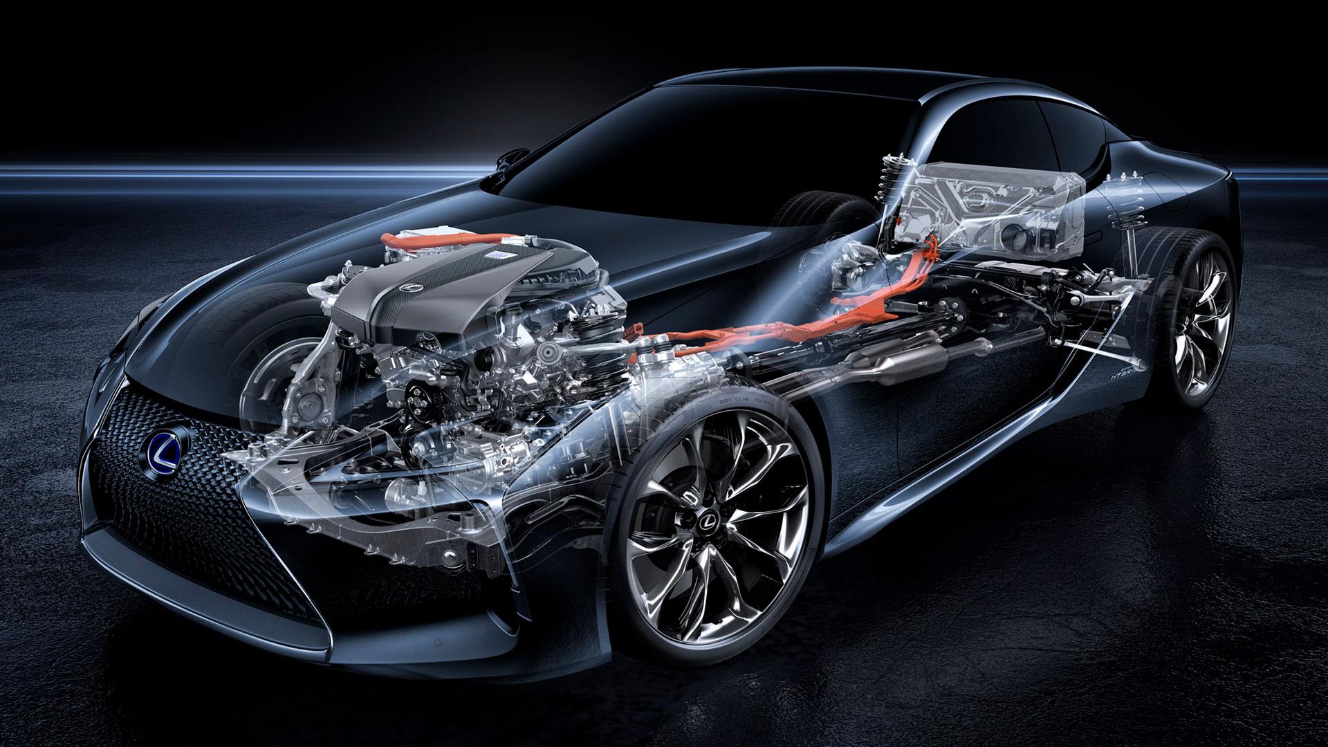 Imagen de un chasis de un vehículo Lexus