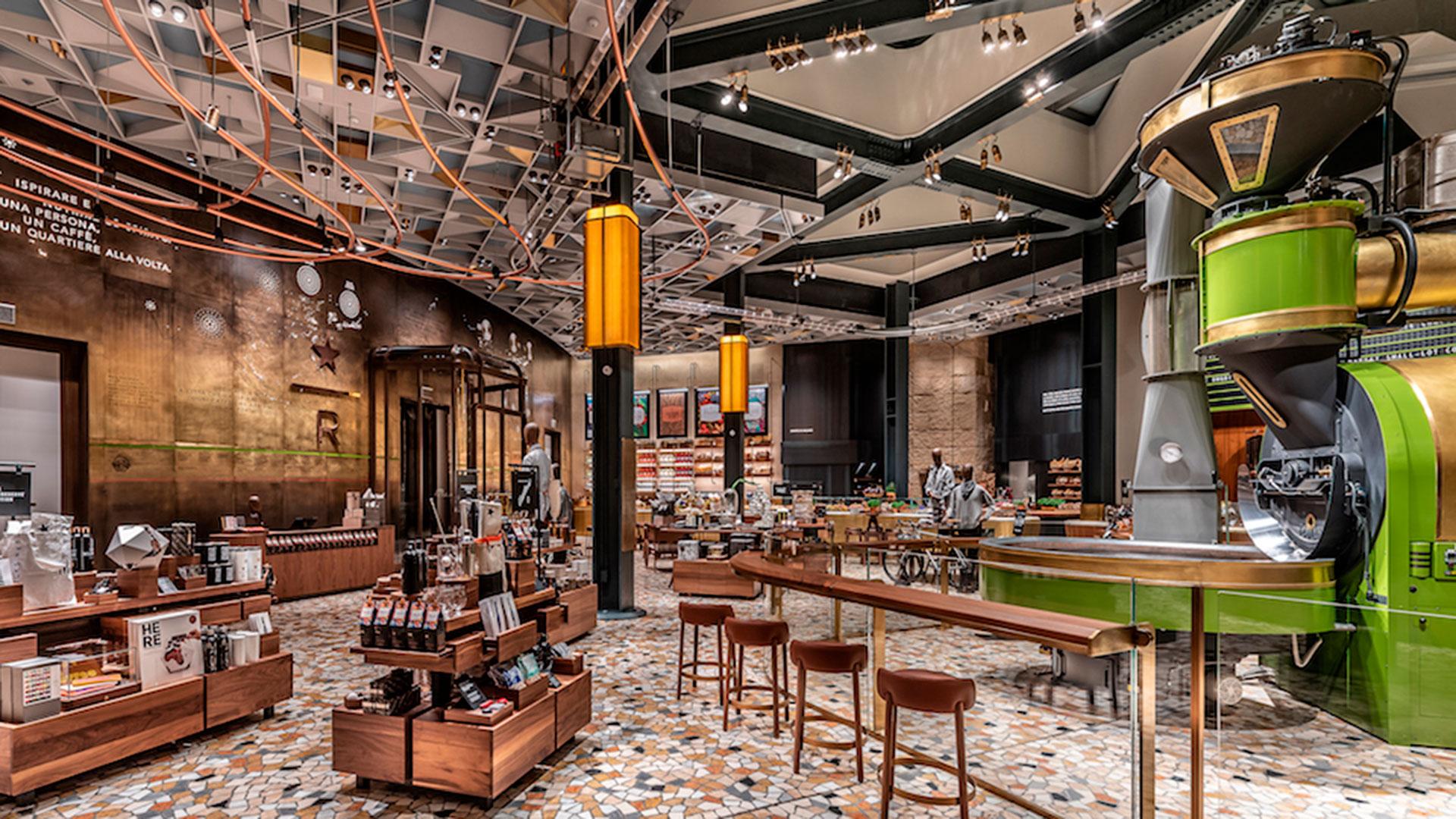 Imagen del nuevo Starbucks Reserve Roastery en Milán