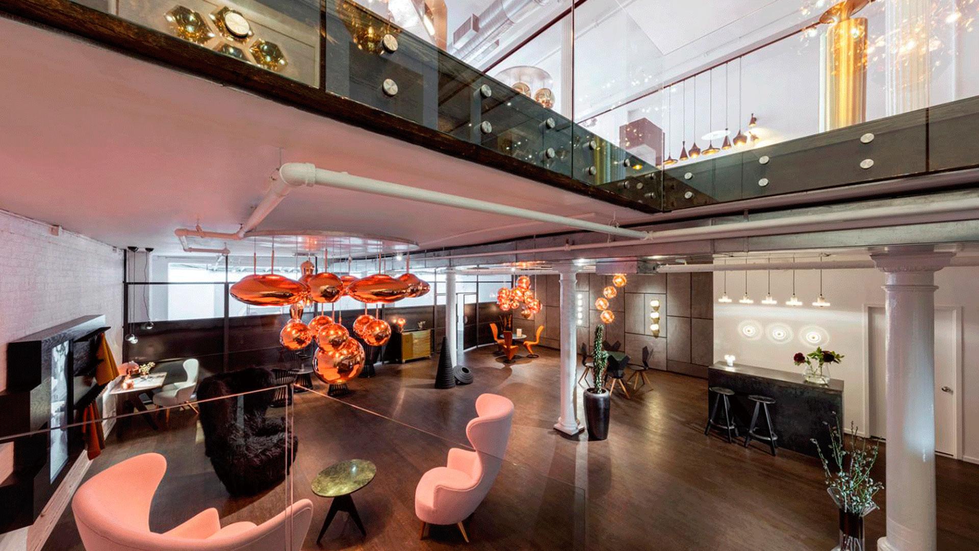 Interior de la nueva tienda de Tom Dixon en Nueva York