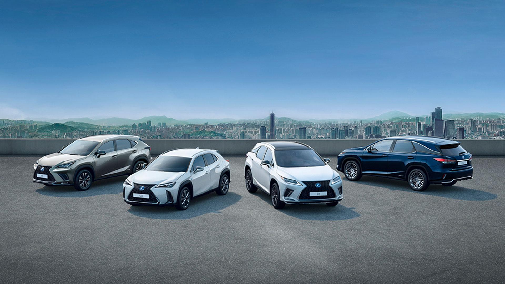Imagen de la gama de crossovers de Lexus