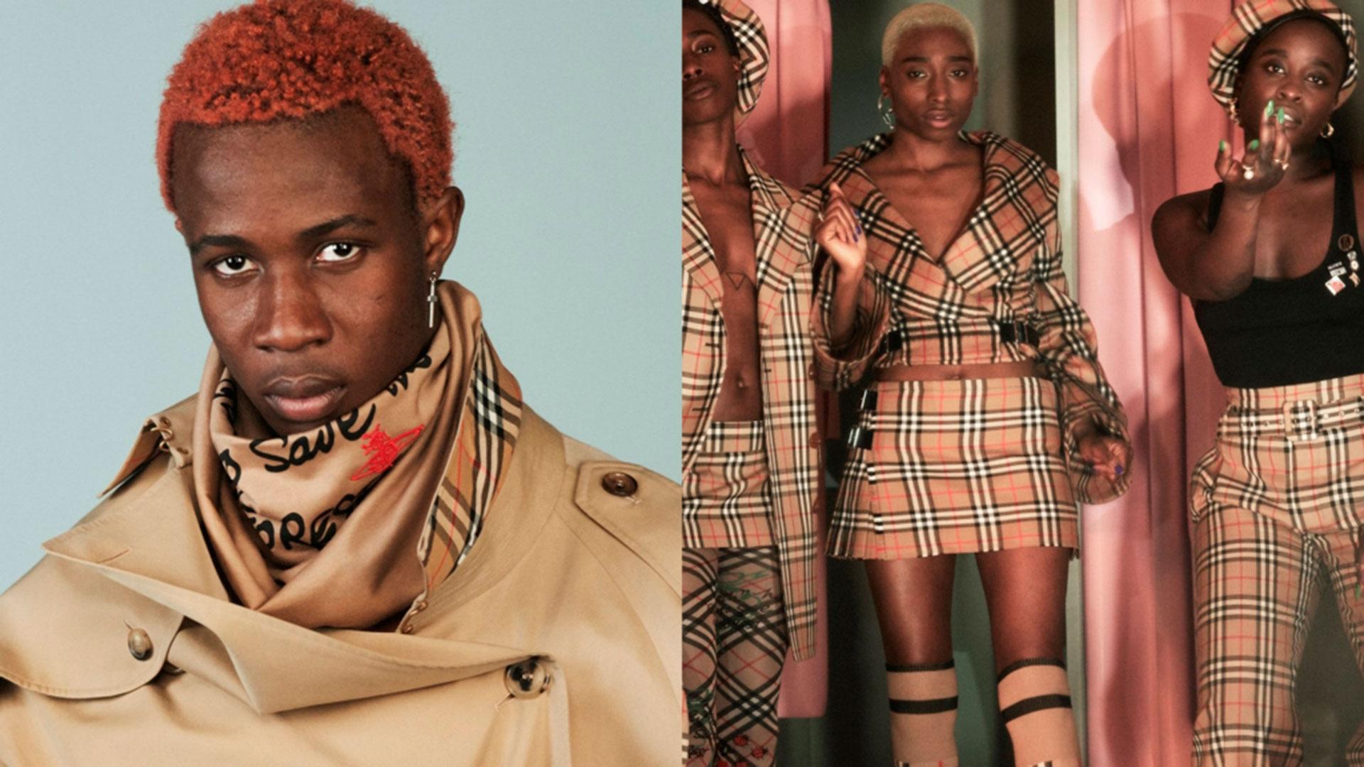 Imagen de la campaña de Vivienne Westwood x Burberry