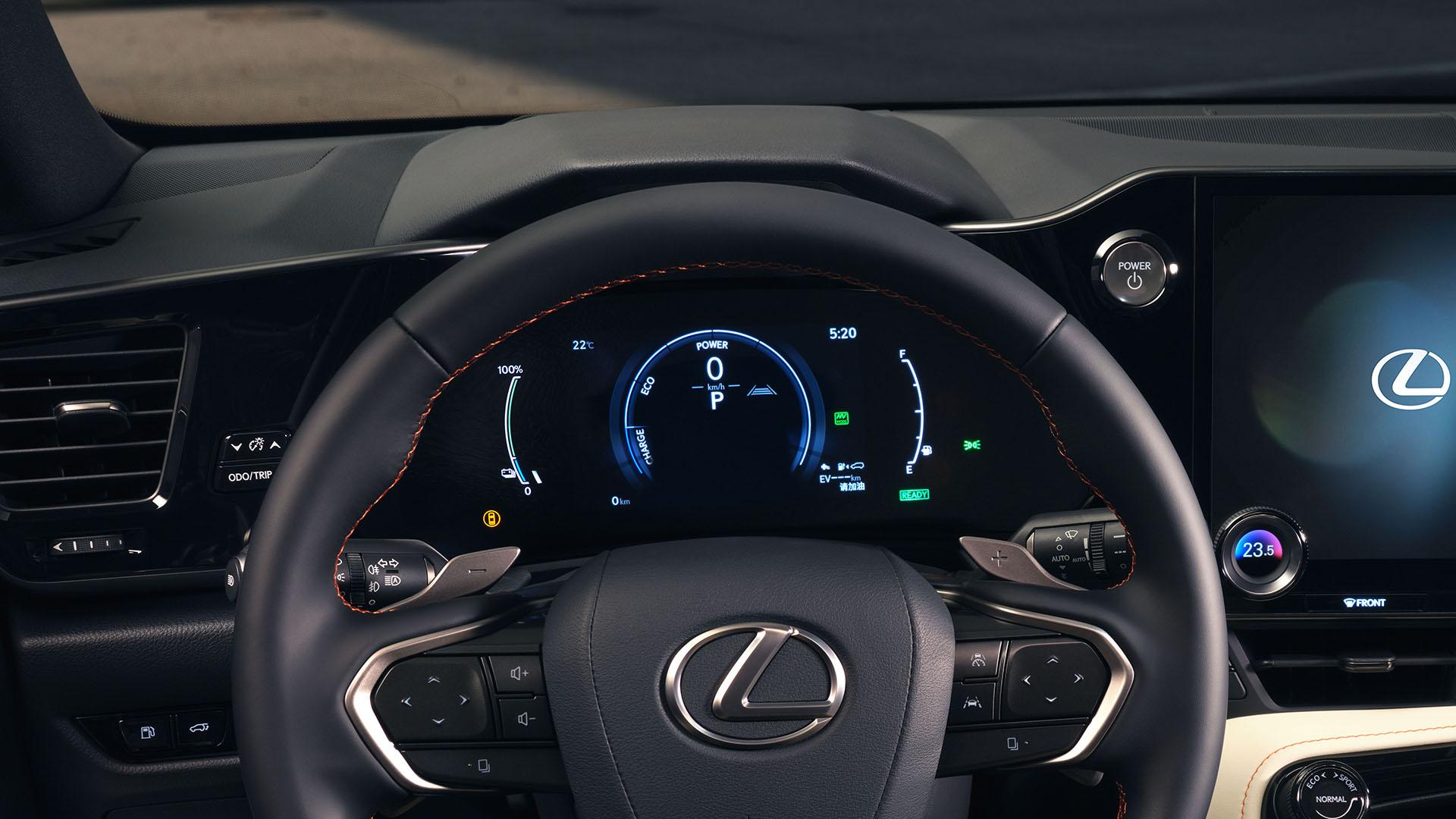 2021 lexus nx experience interior front multi information display