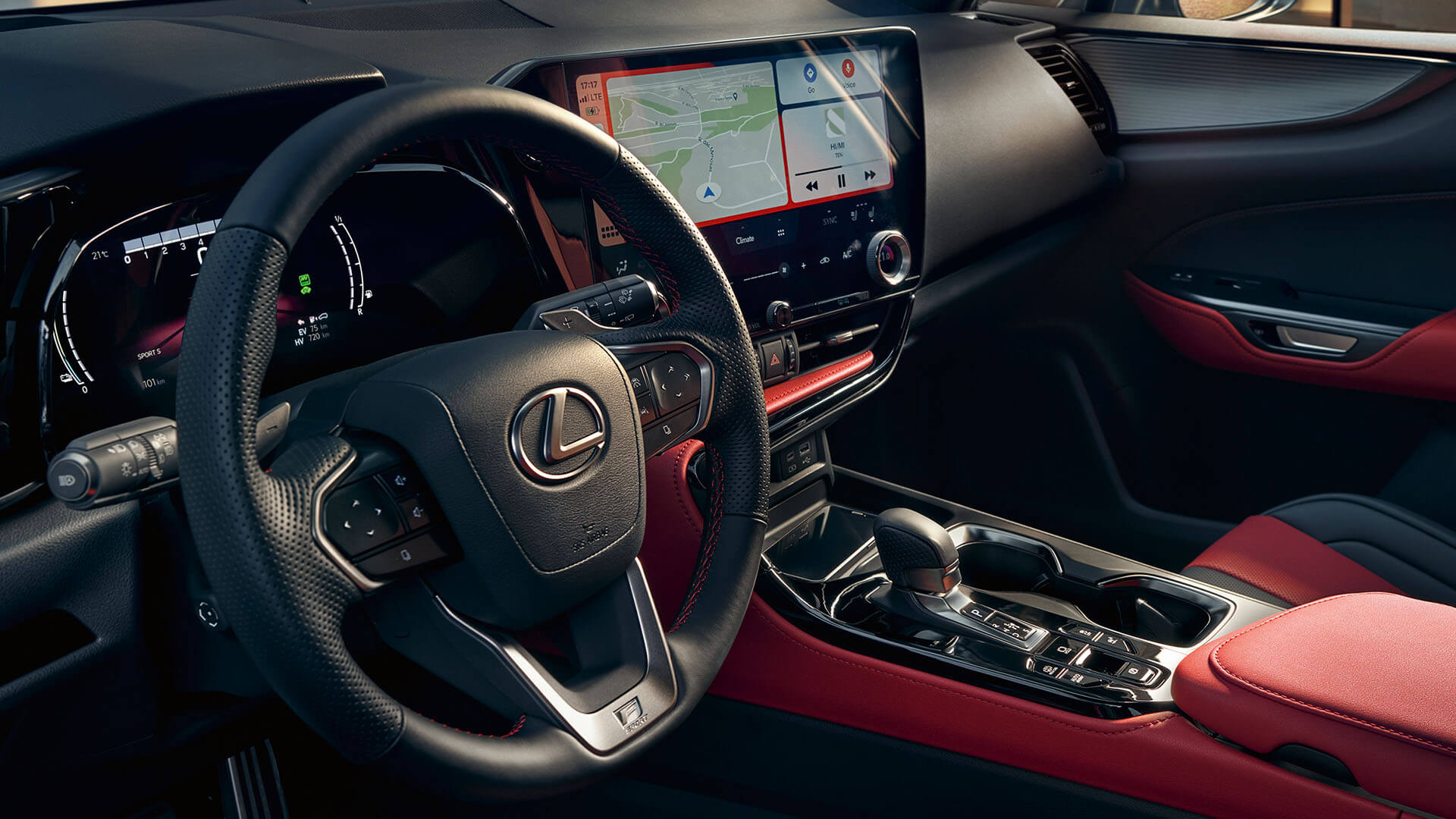 2021 lexus nx experience interior front sculpted steering wheel