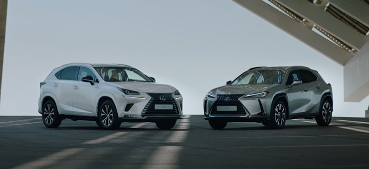 2020 lexus car grid stock