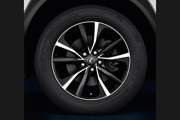 2020 lexus suv nx accessories 18 black machined face alloys 3x2