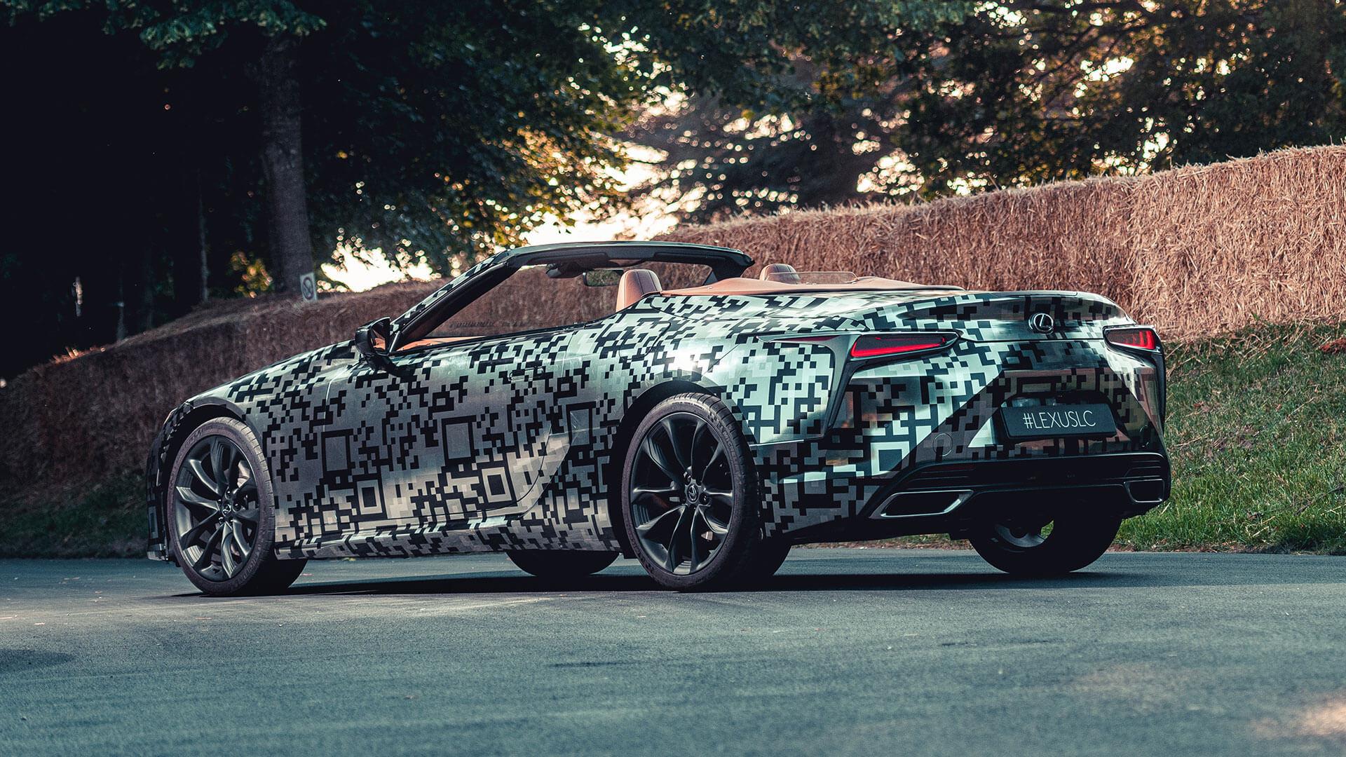 Lexus Unveils LC Convertible Prototype At Goodwood body image 1