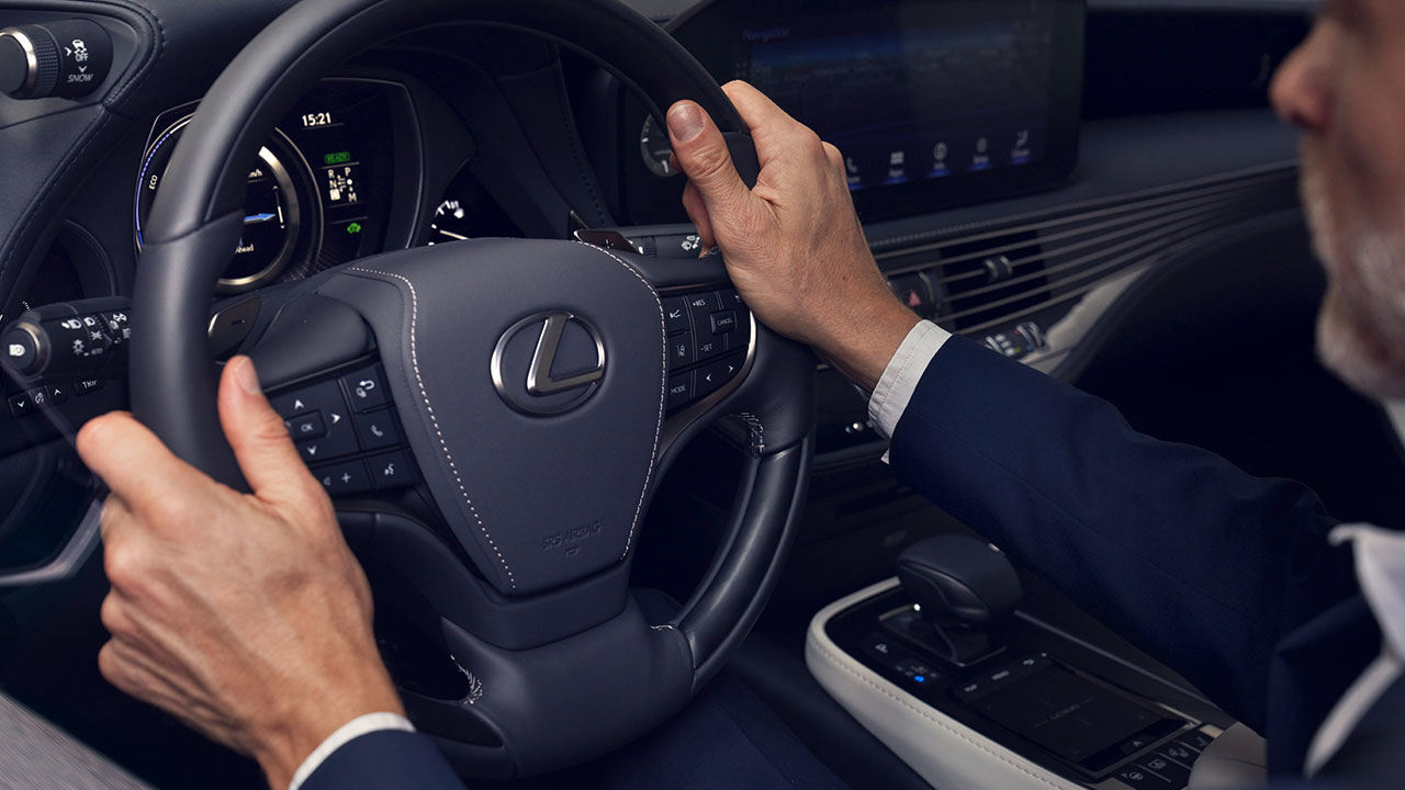 2020 lexus ls experience leather steering wheel