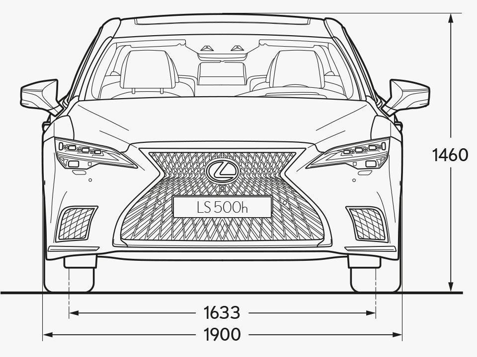LS Front Dimensions Image