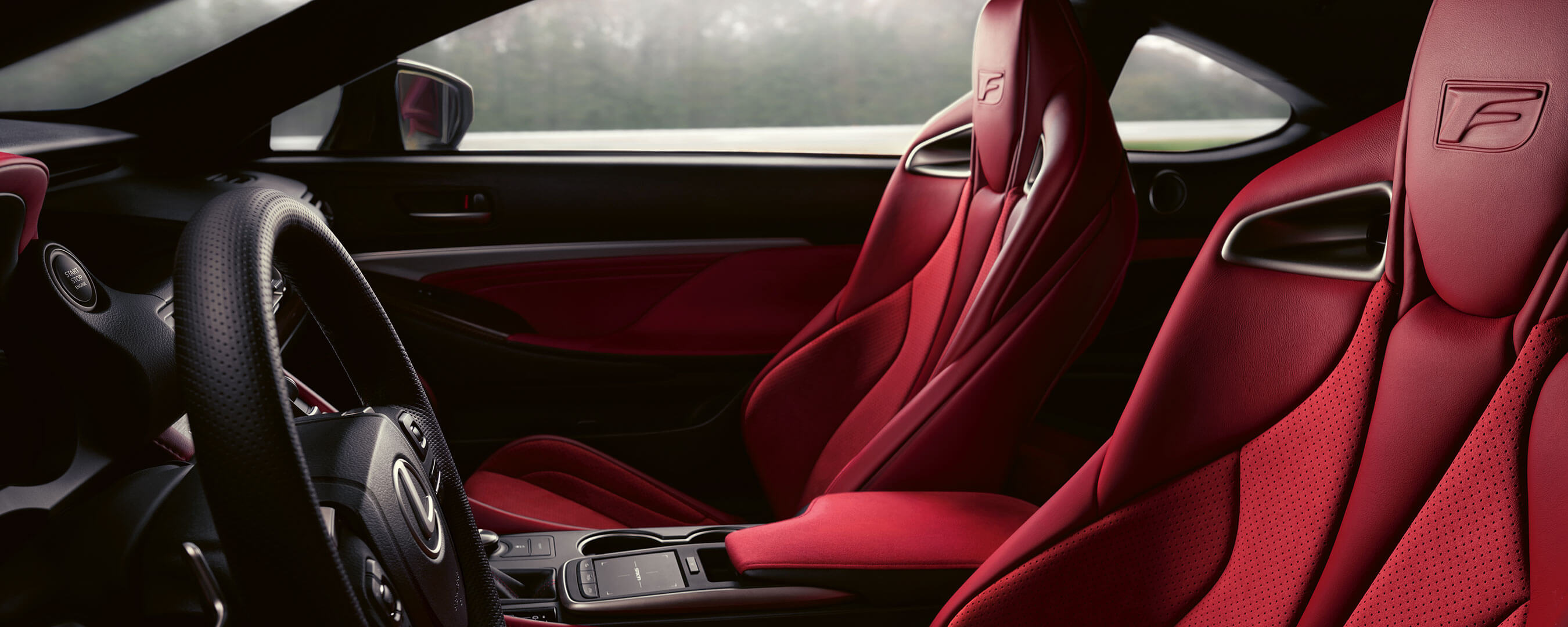 2019 lexus rc f experience hero interior rear