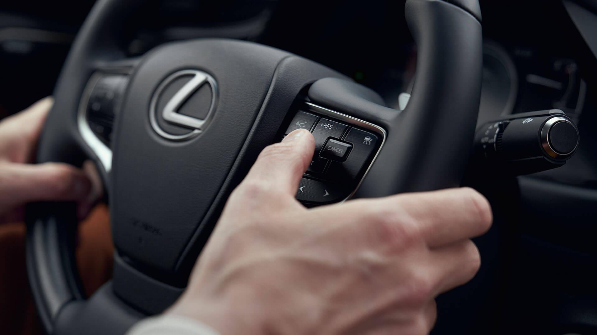 2022 lexus es experience interior front leather steering wheel