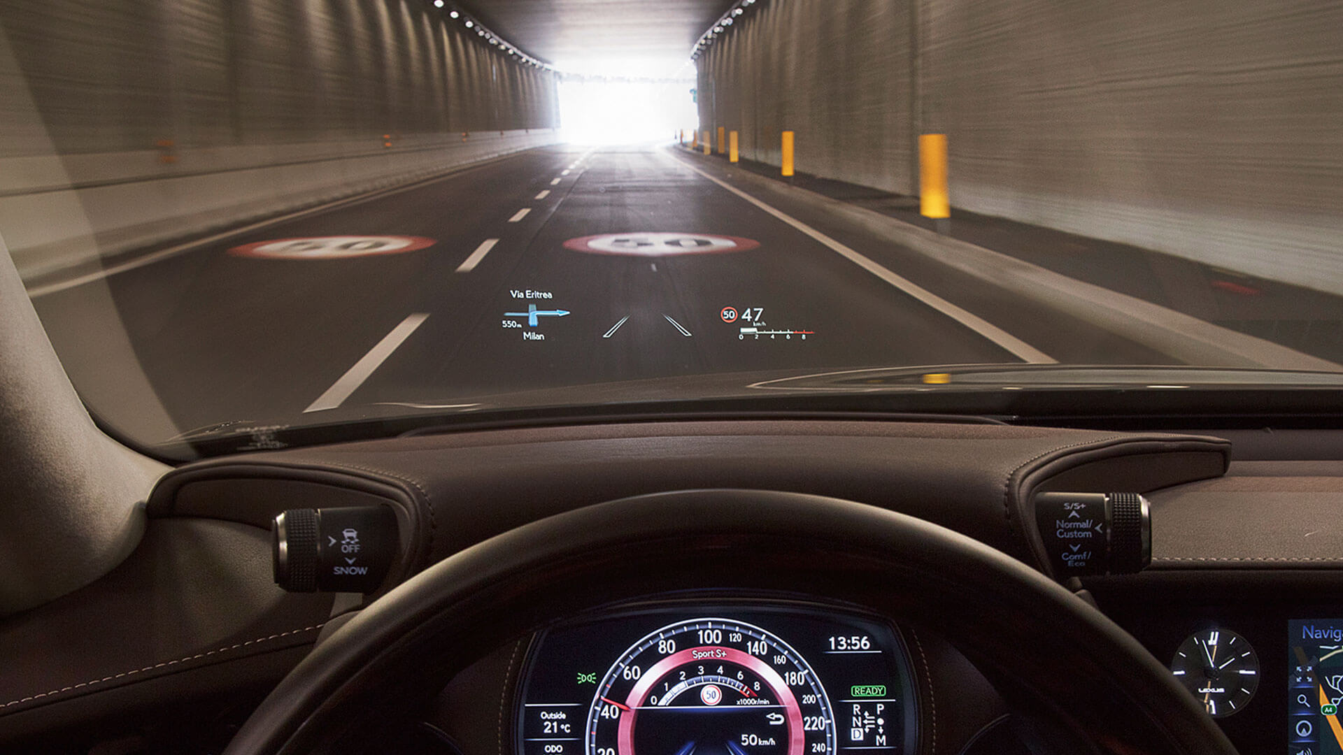 2018 lexus ls experience feature heads up display