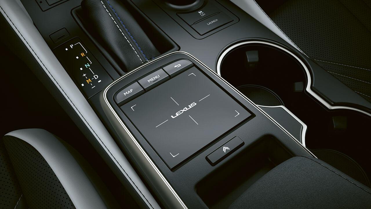 2021 lexus rc f experience hotspot interior touch pad