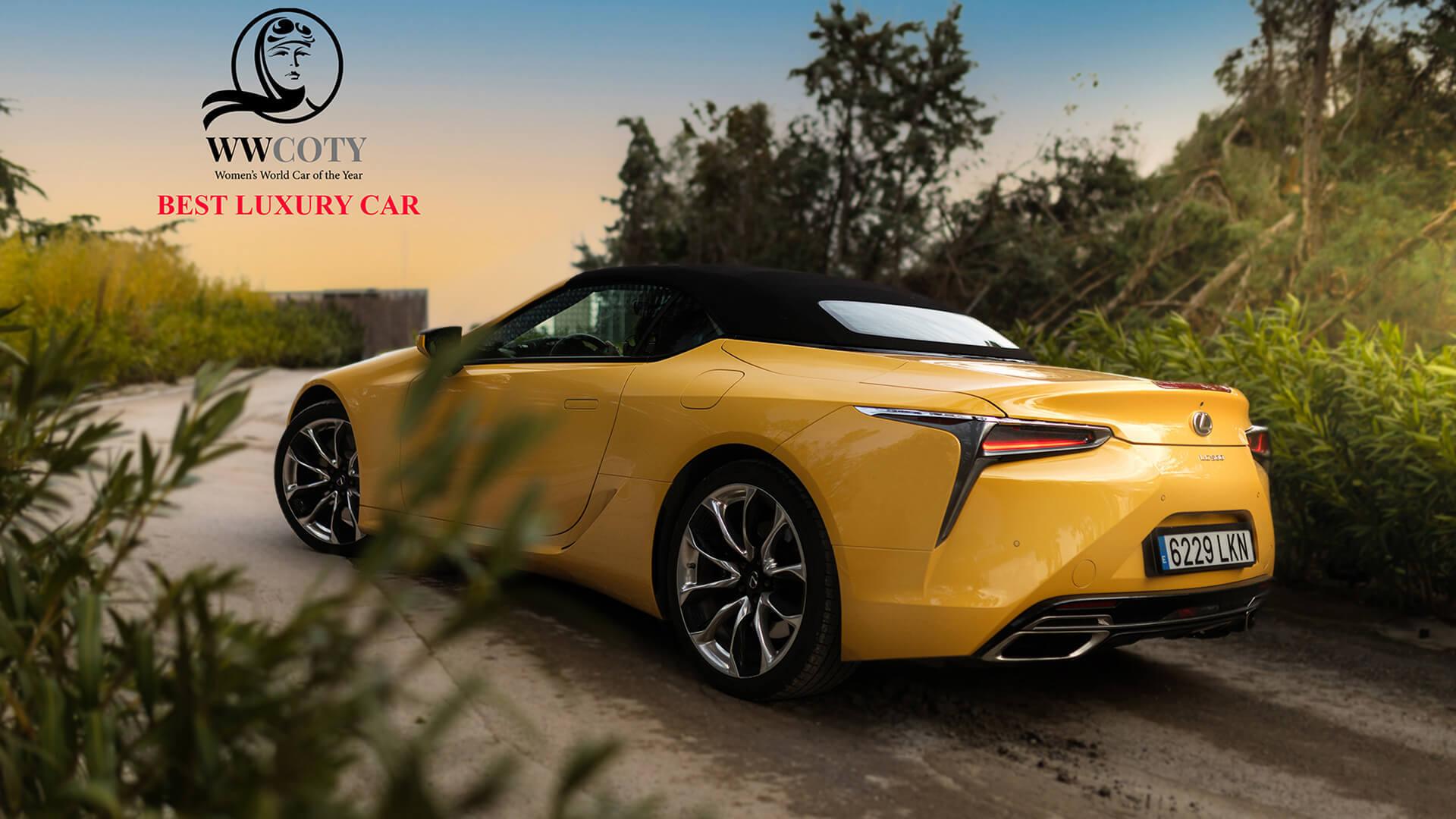 LC Convertible Best Luxury Car Award Hero Image