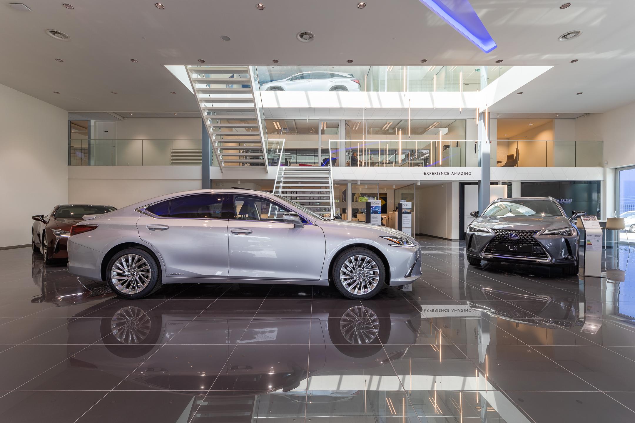 Showroom van Lexus Rotterdam