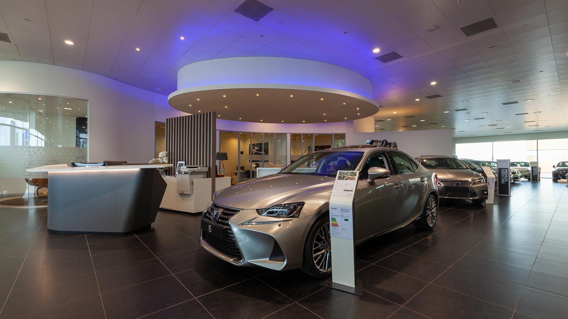 Showroom van Lexus Amsterdam