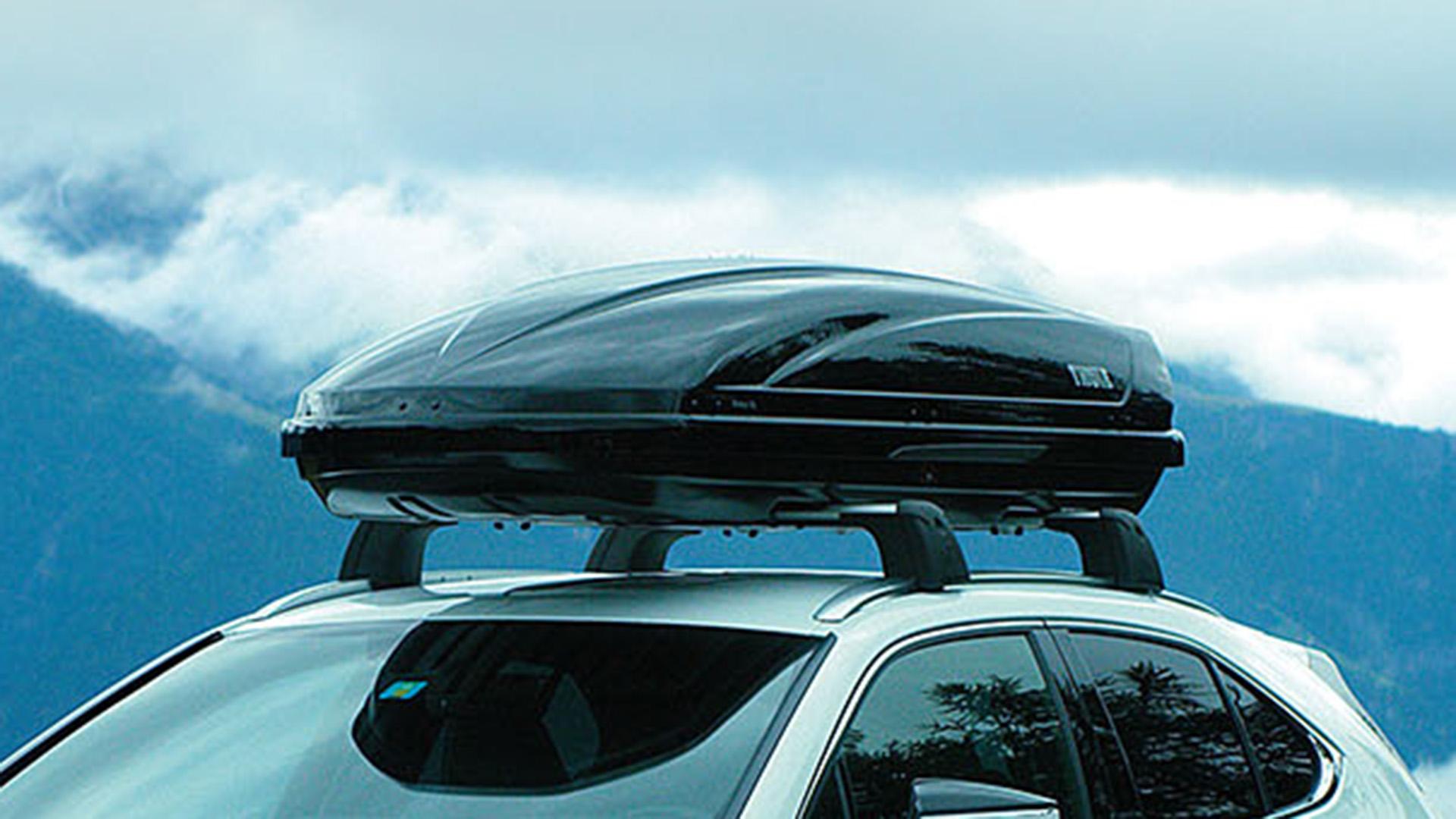 Achterkant van een grijze Lexus RX 450h