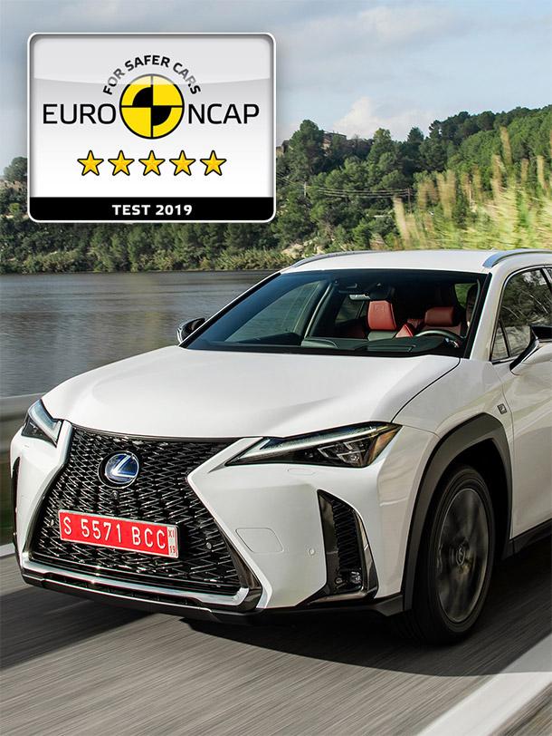 2019 008 Lexus UX 250h succesvol bij Euro NCAP portrait