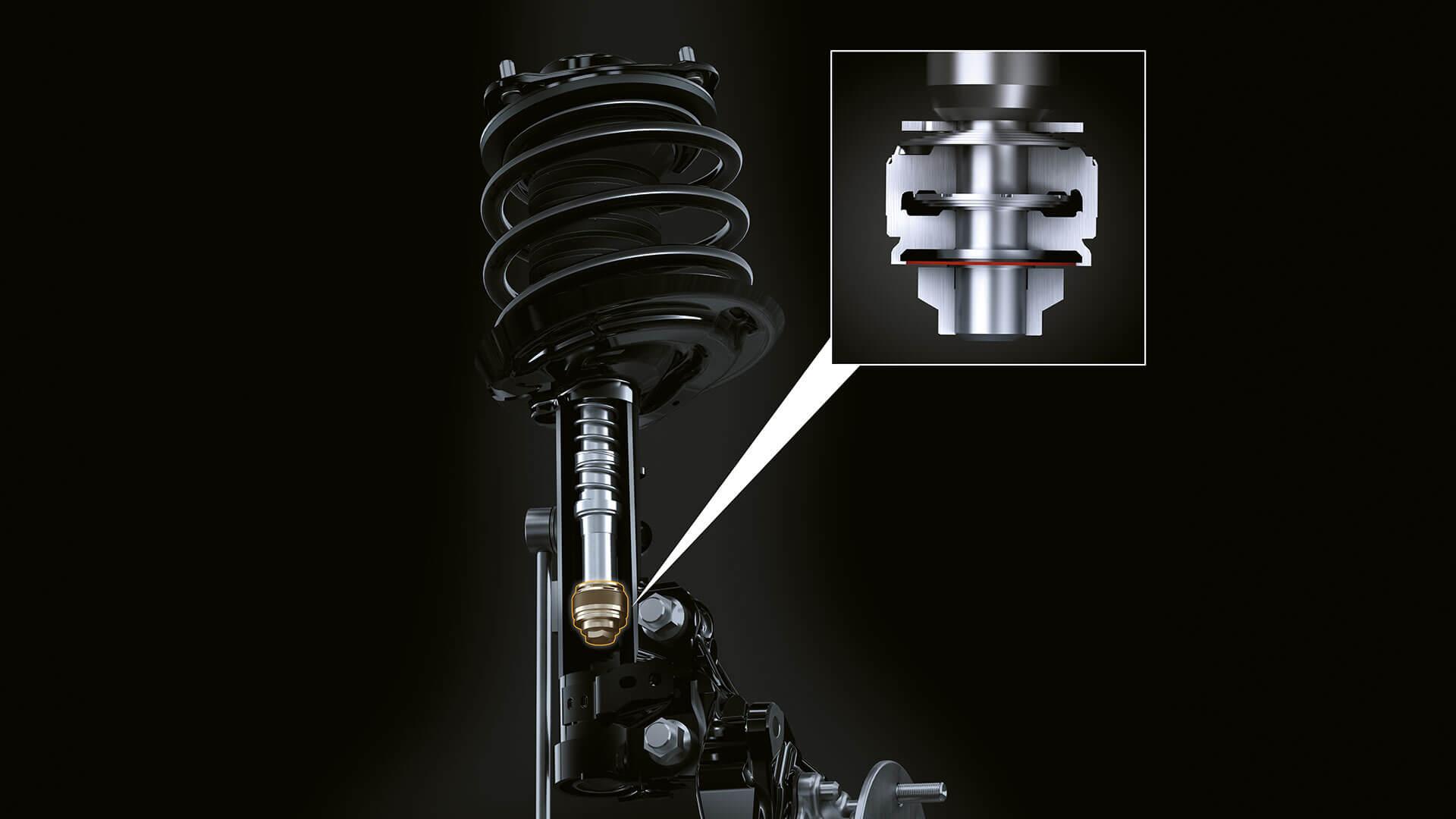 2019 lexus es hybrid experience feature swing valve shock absorber