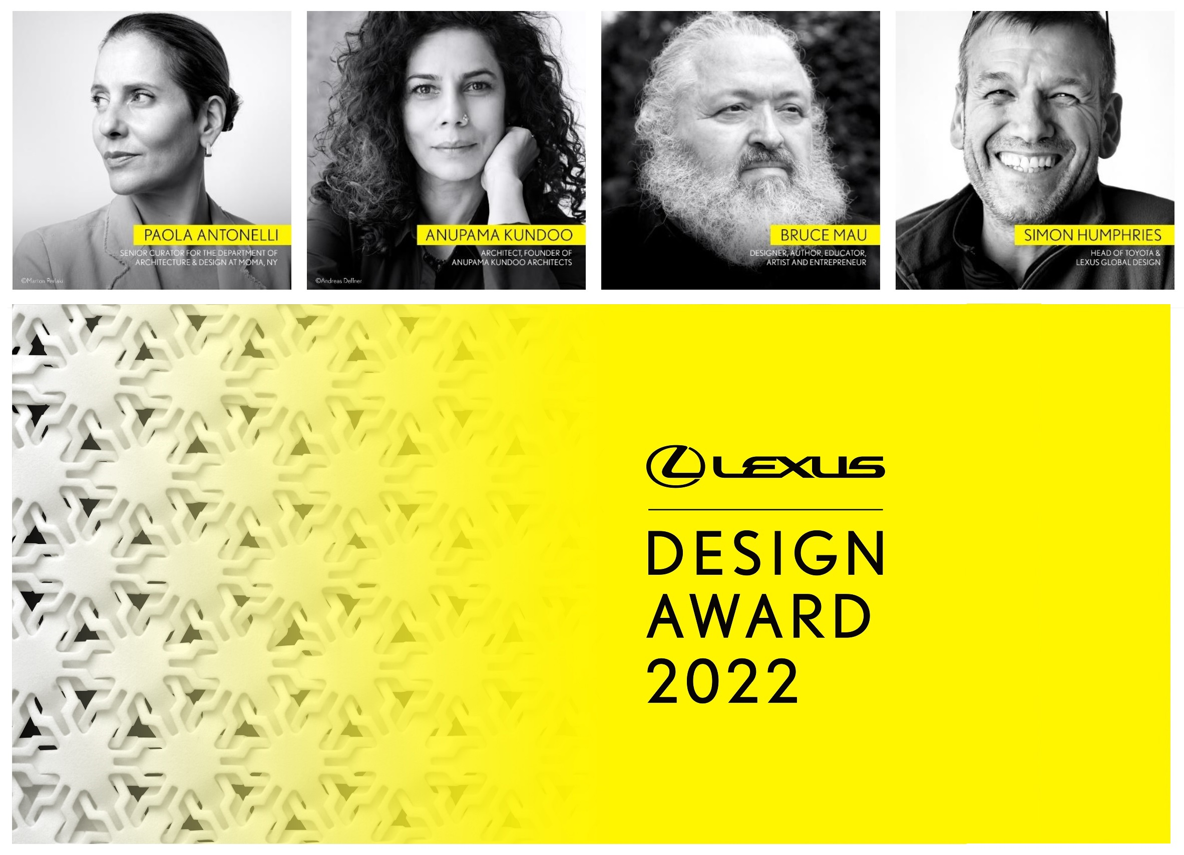 Anunciado juri para o Lexus design award 2022 Image