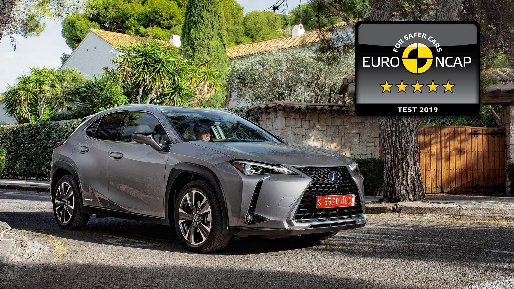 Novo Crossover lexus UX com 5 estrelas Euro NCAP