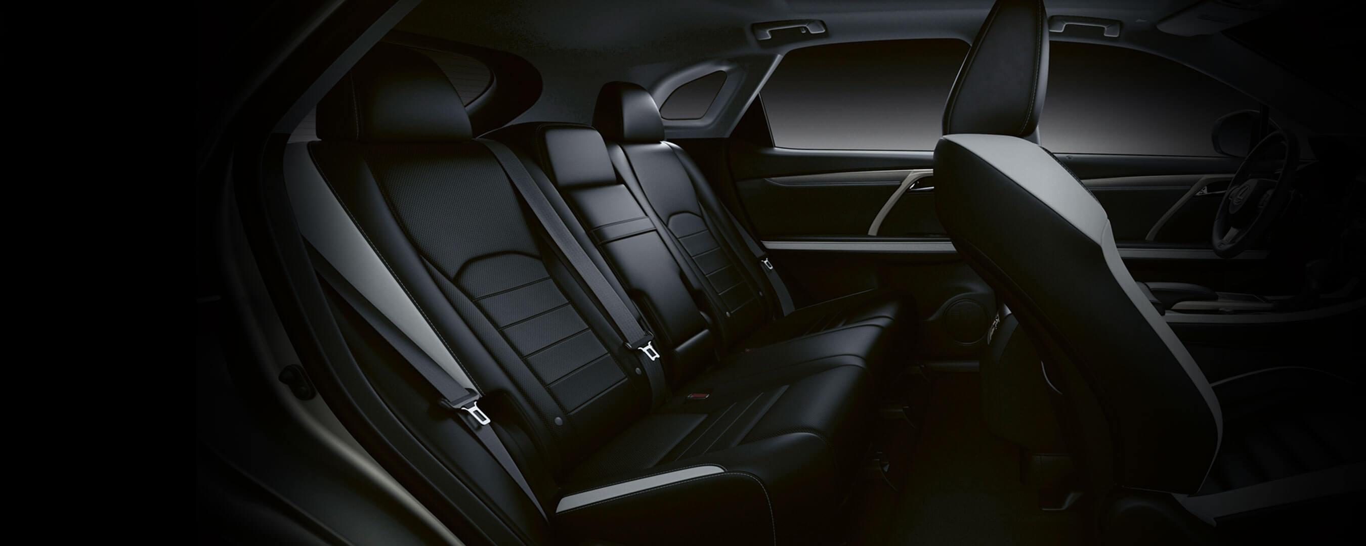 2019 lexus rx experience rear interior