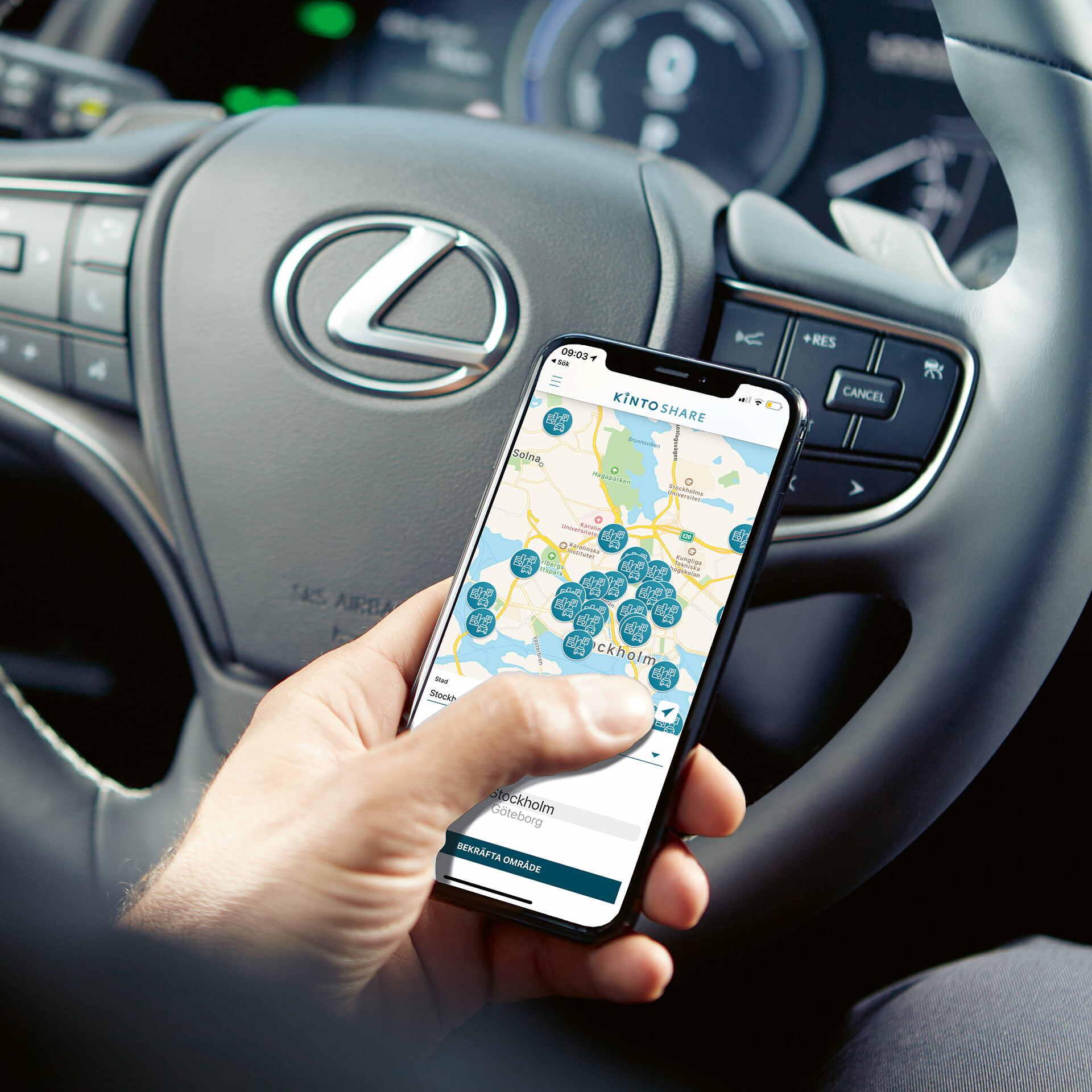 Kinto Share mobilapp Lexus